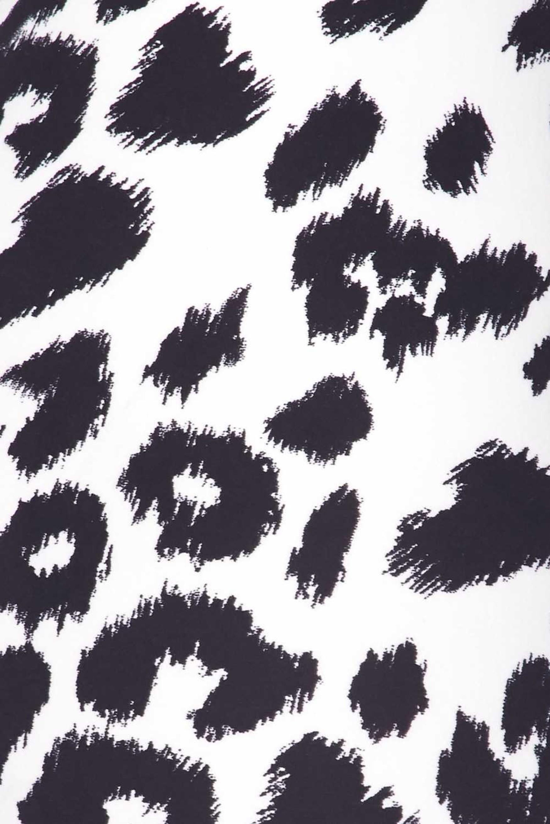 Soft Brushed Ivory Spotted Leopard Leggings