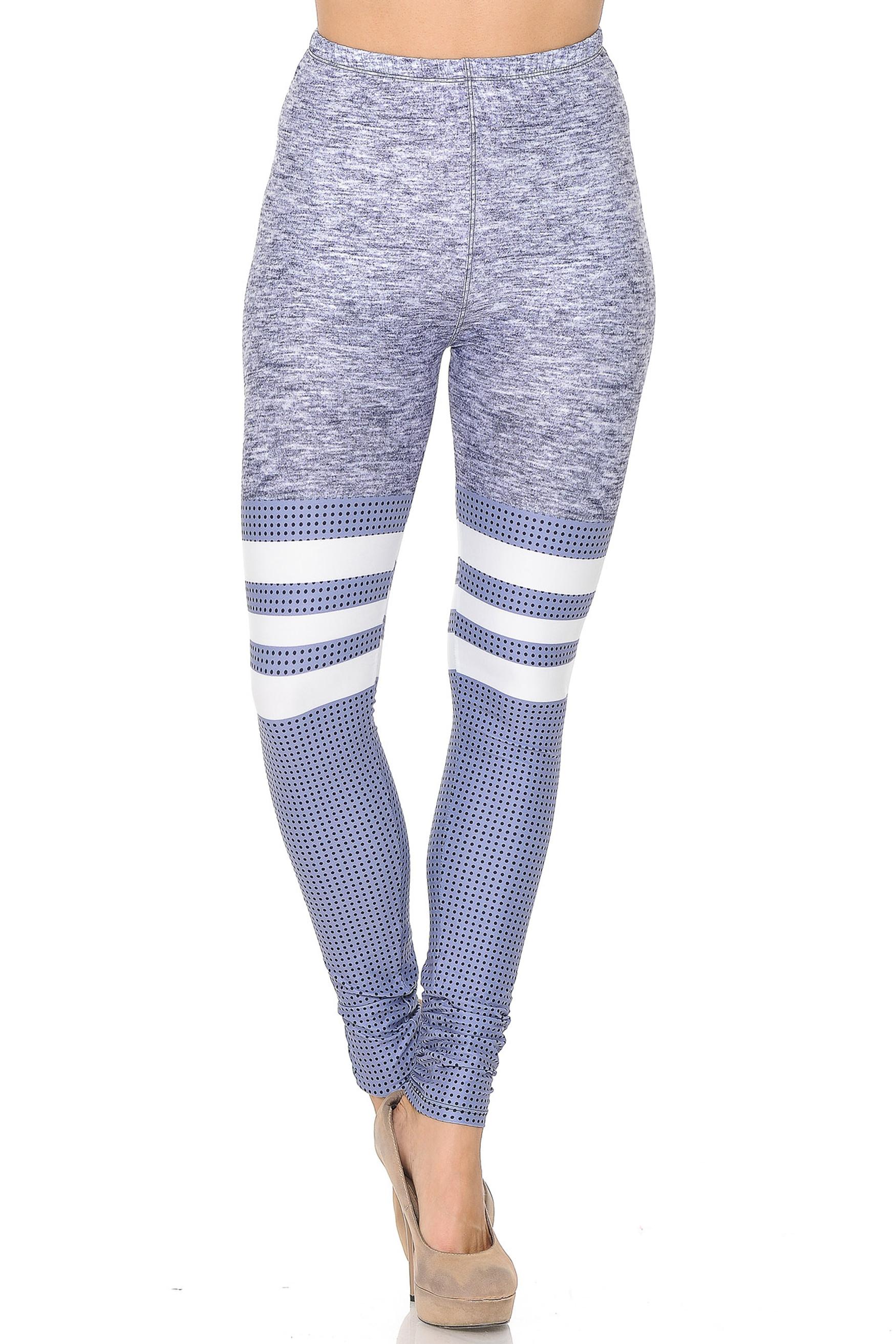 Creamy Soft Split Sport Light Heathered Extra Small Leggings - USA fashion™