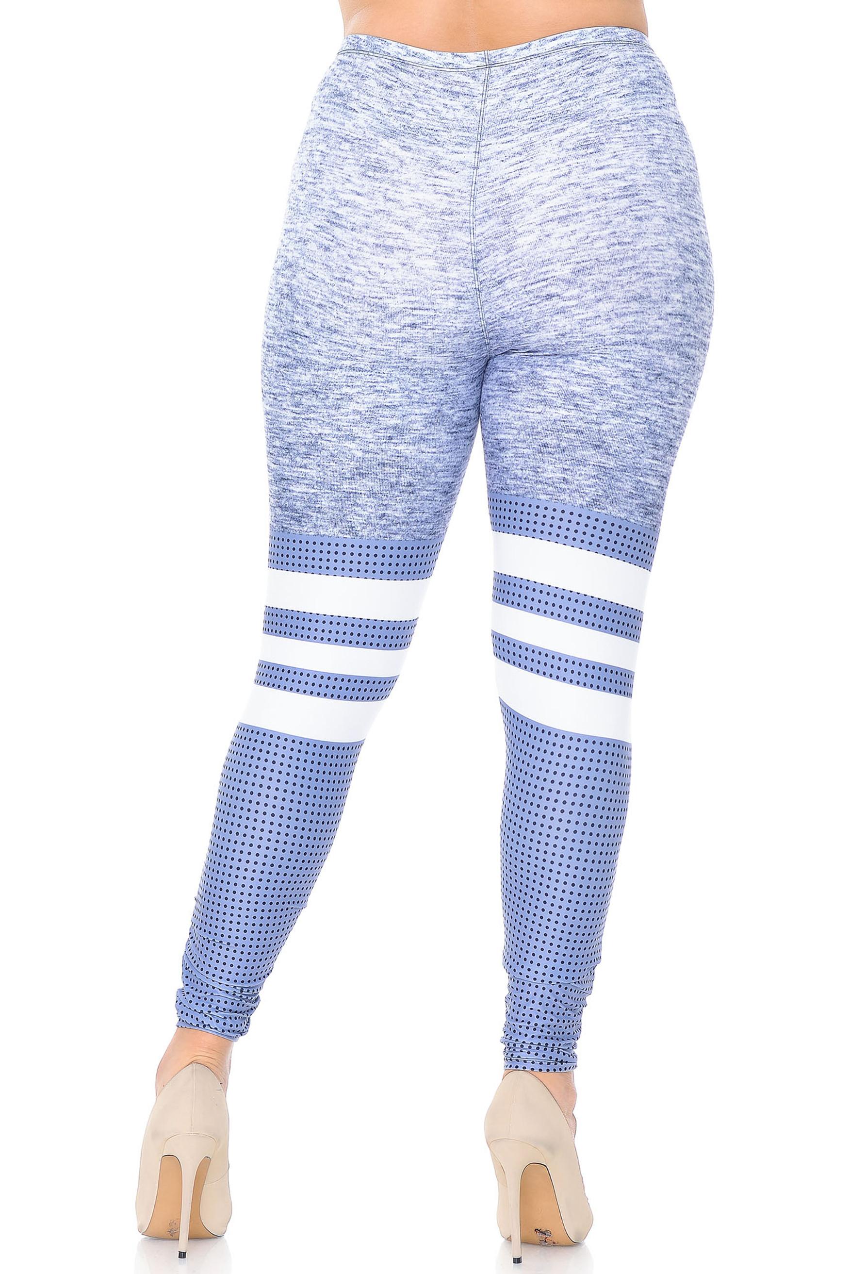 Creamy Soft Split Sport Light Heathered Plus Size Leggings - USA Fashion™
