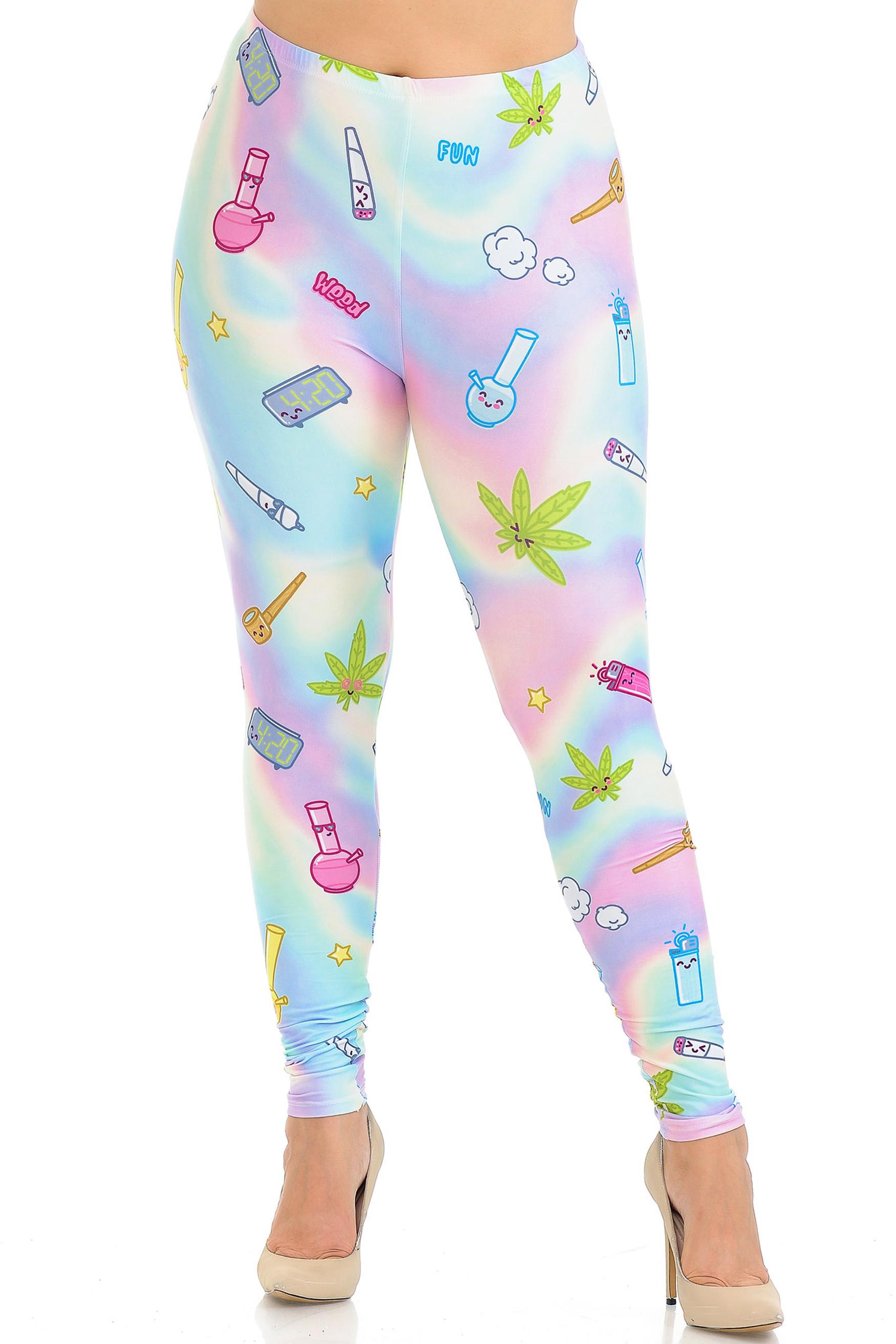 Creamy Soft Marijuana Life Plus Size Leggings - USA Fashion™