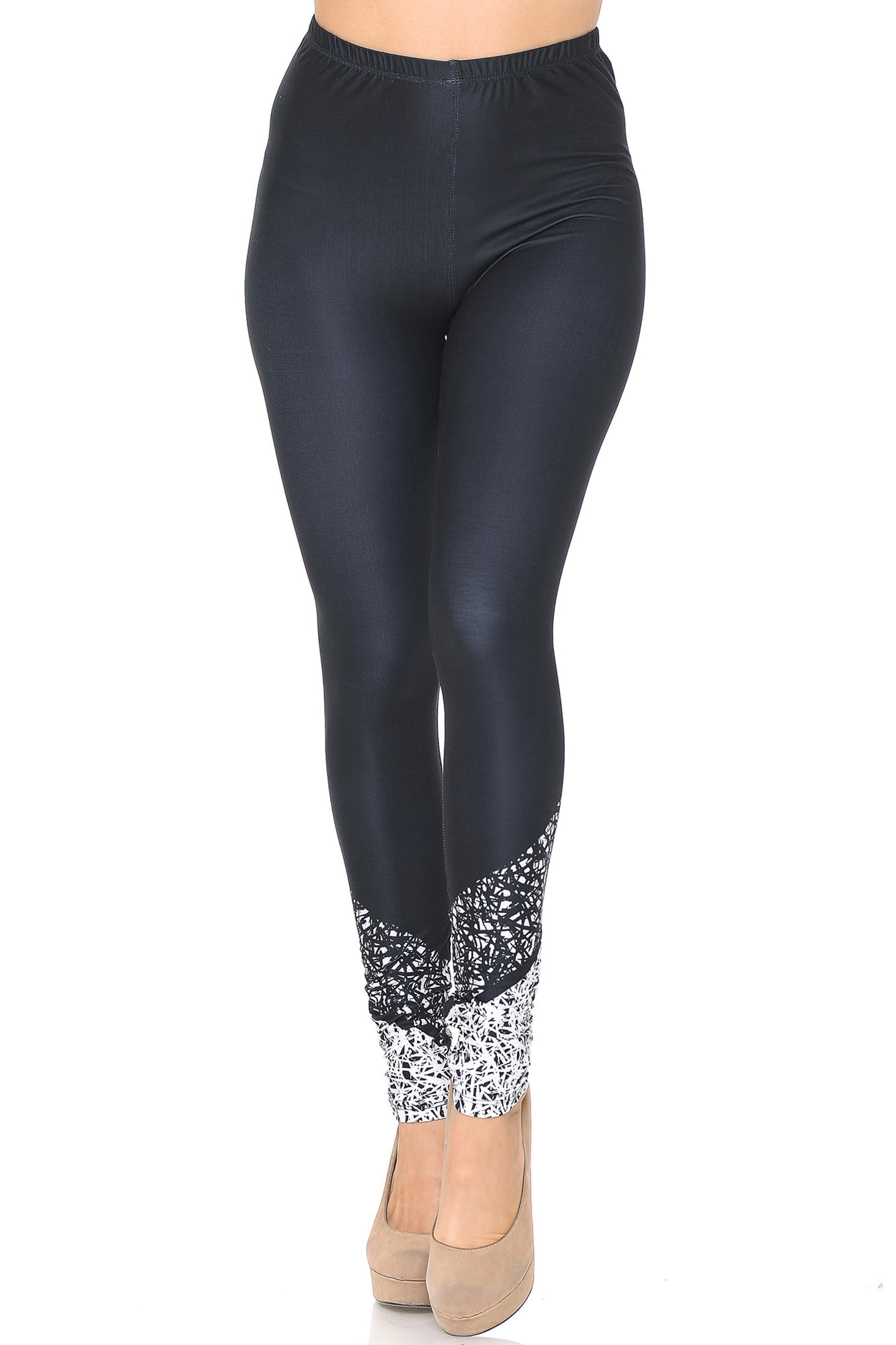 Creamy Soft Ebony Escapade Leggings - USA Fashion™