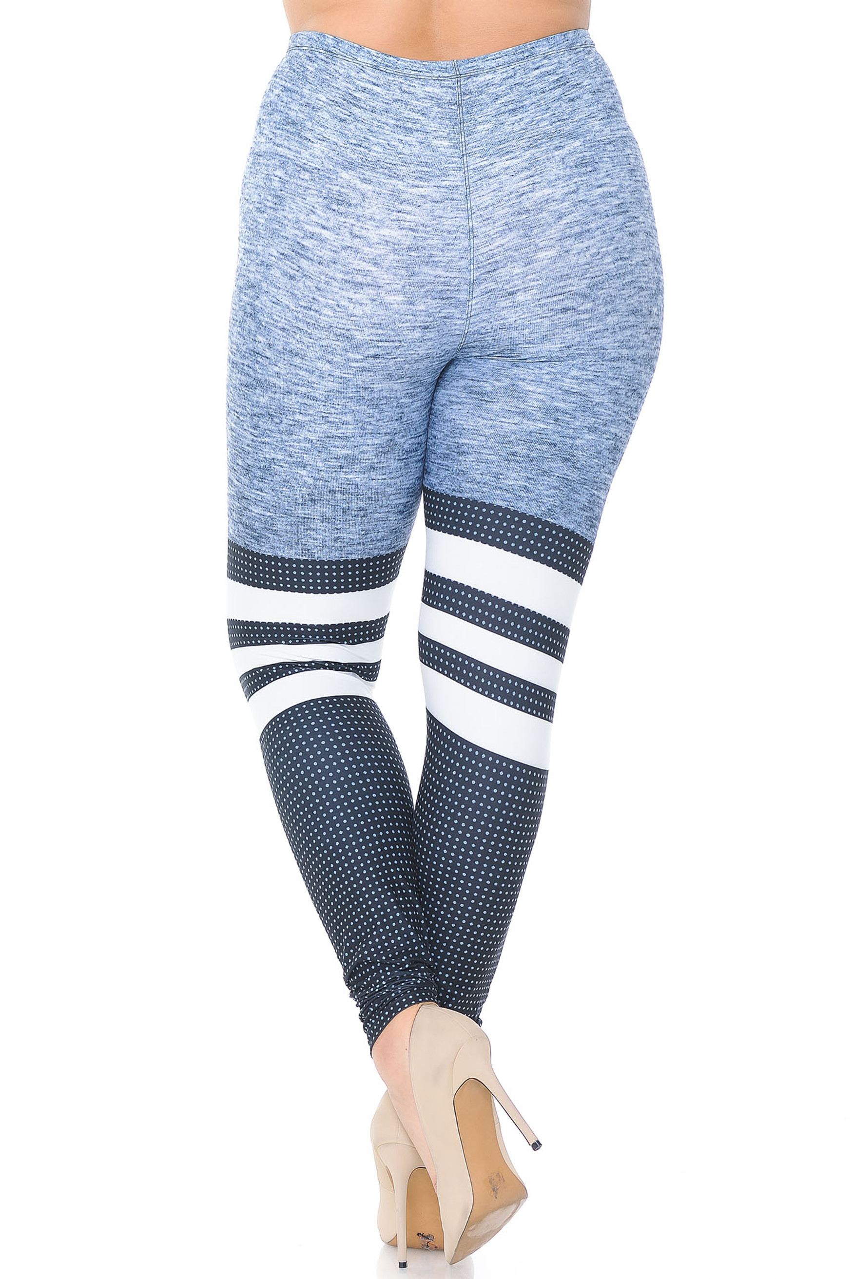 Creamy Soft Split Sport Extra Plus Size Leggings - 3X-5X - USA Fashion™