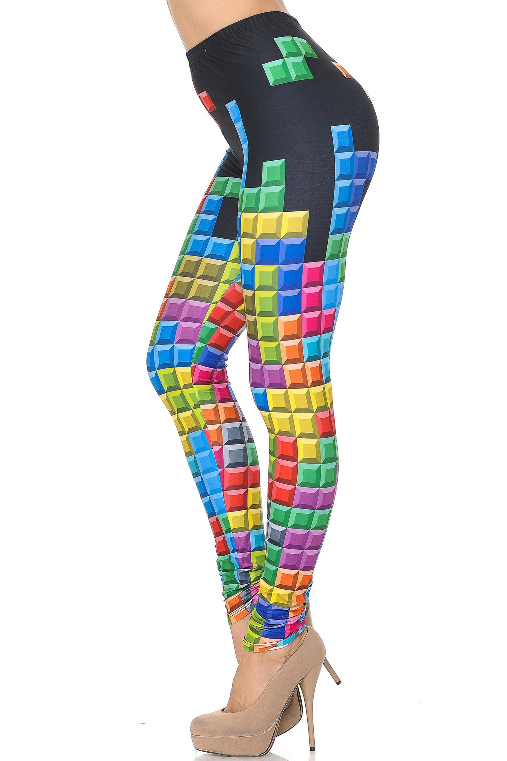 Creamy Soft Tetris Extra Small Leggings - USA Fashion™