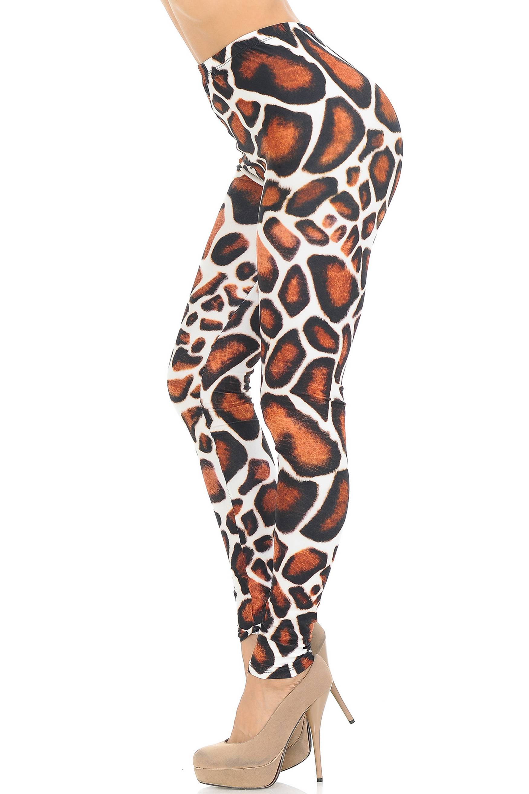 Creamy Soft Giraffe Print Extra Small Leggings - USA Fashion™
