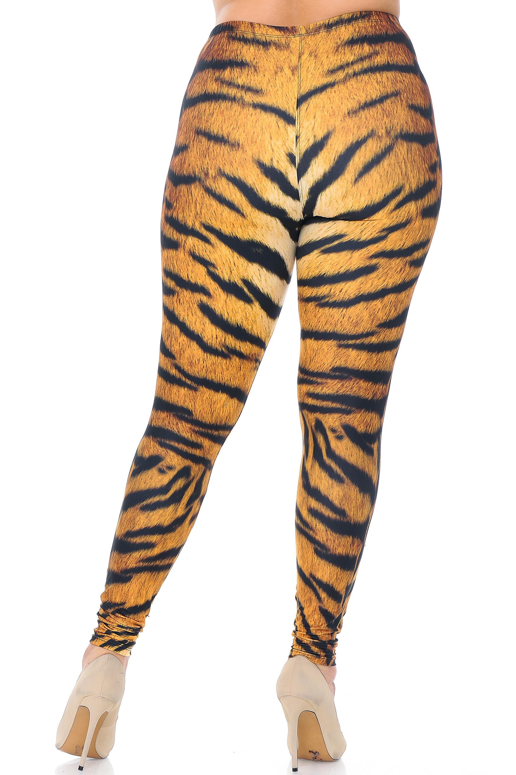 Creamy Soft Tiger Print Plus Size Leggings - USA Fashion™