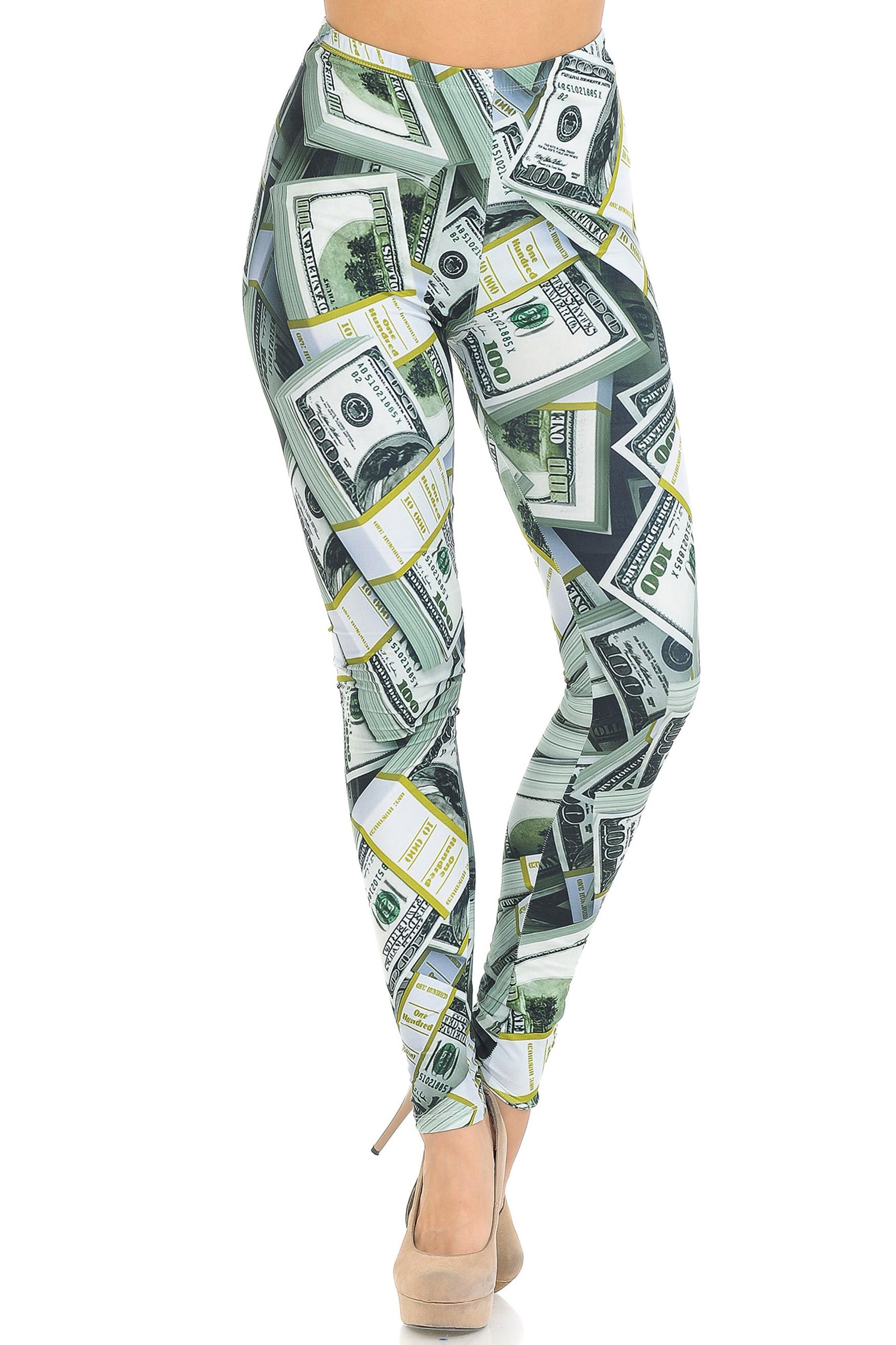 Creamy Soft Cash Money Extra Small Leggings - USA Fashion™