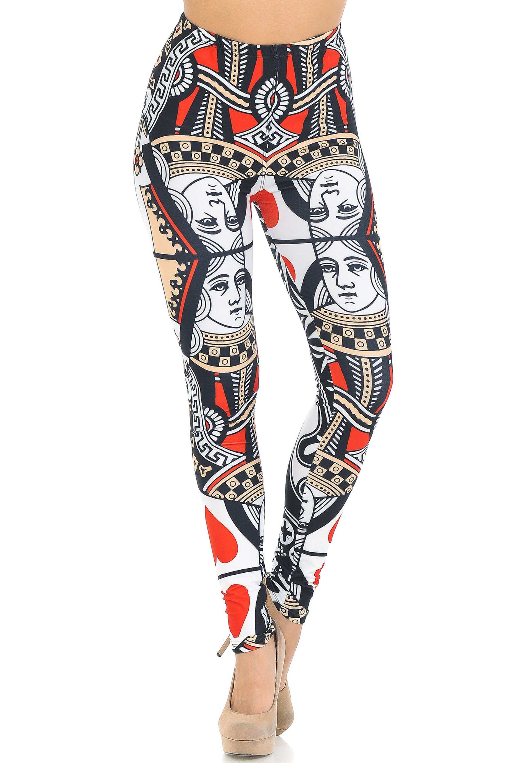 Creamy Soft Queen of Hearts Leggings - USA Fashion™