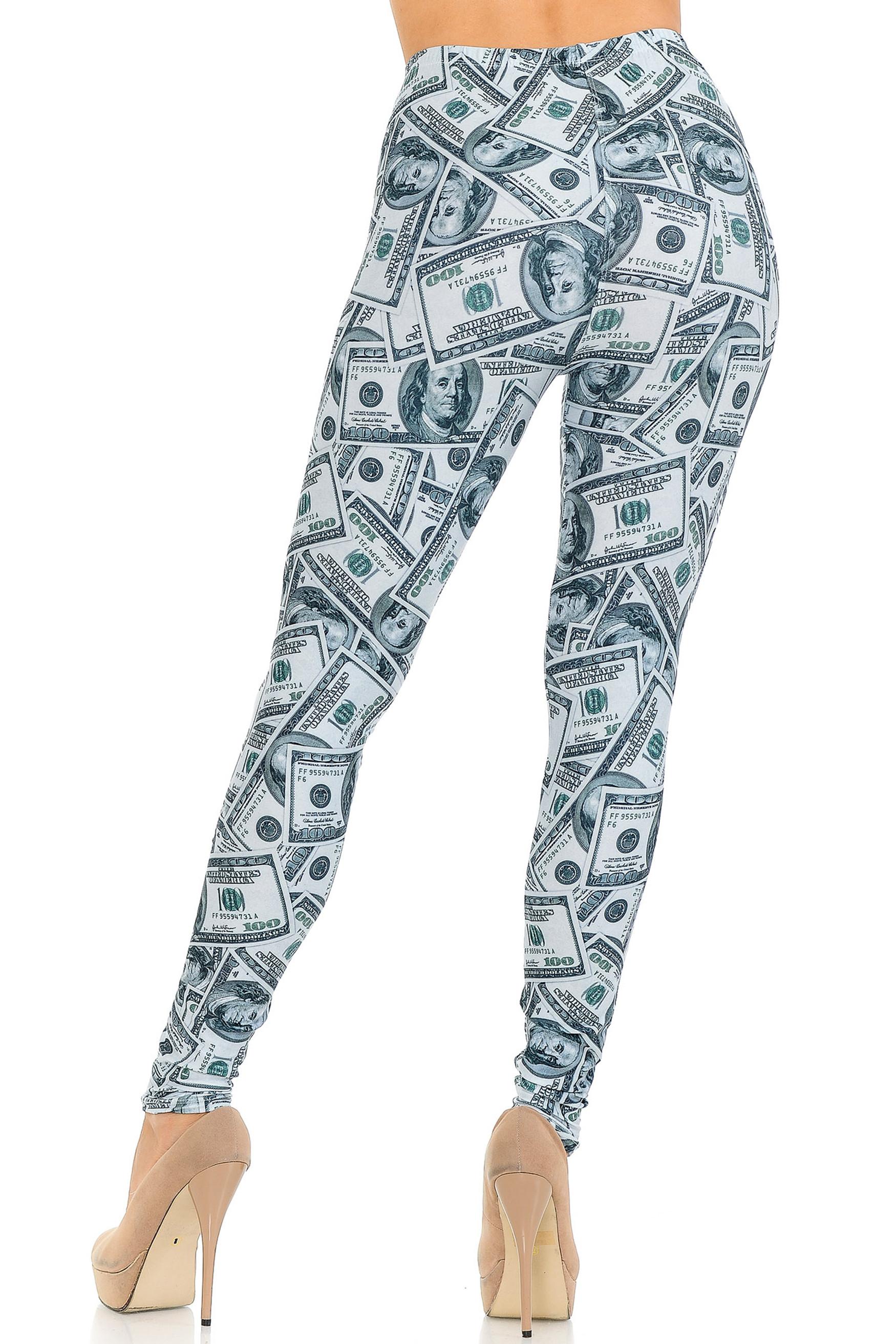 Creamy Soft Raining Money Extra Small Leggings - USA Fashion™