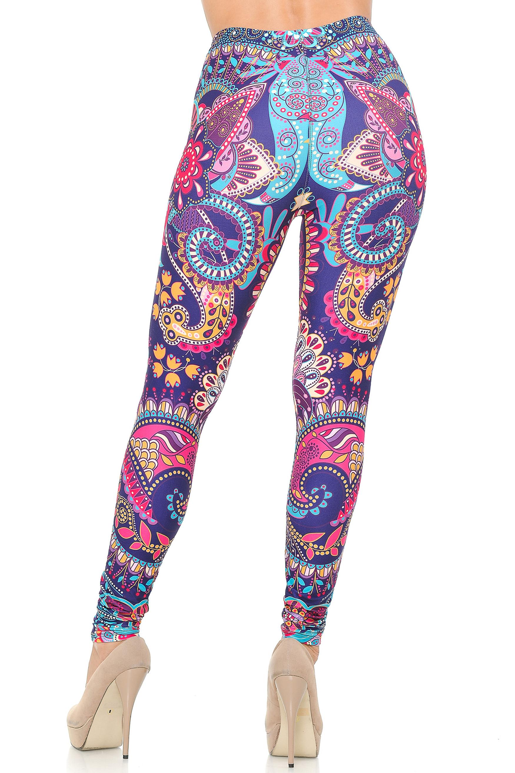 Creamy Soft Mandala Flowers Leggings - USA Fashion™