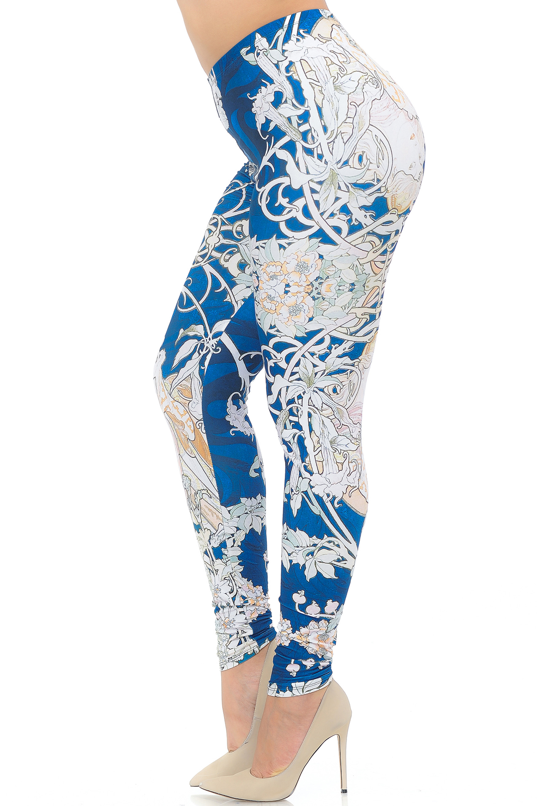 Creamy Soft Twisted Eden Vine Plus Size Leggings - USA Fashion™