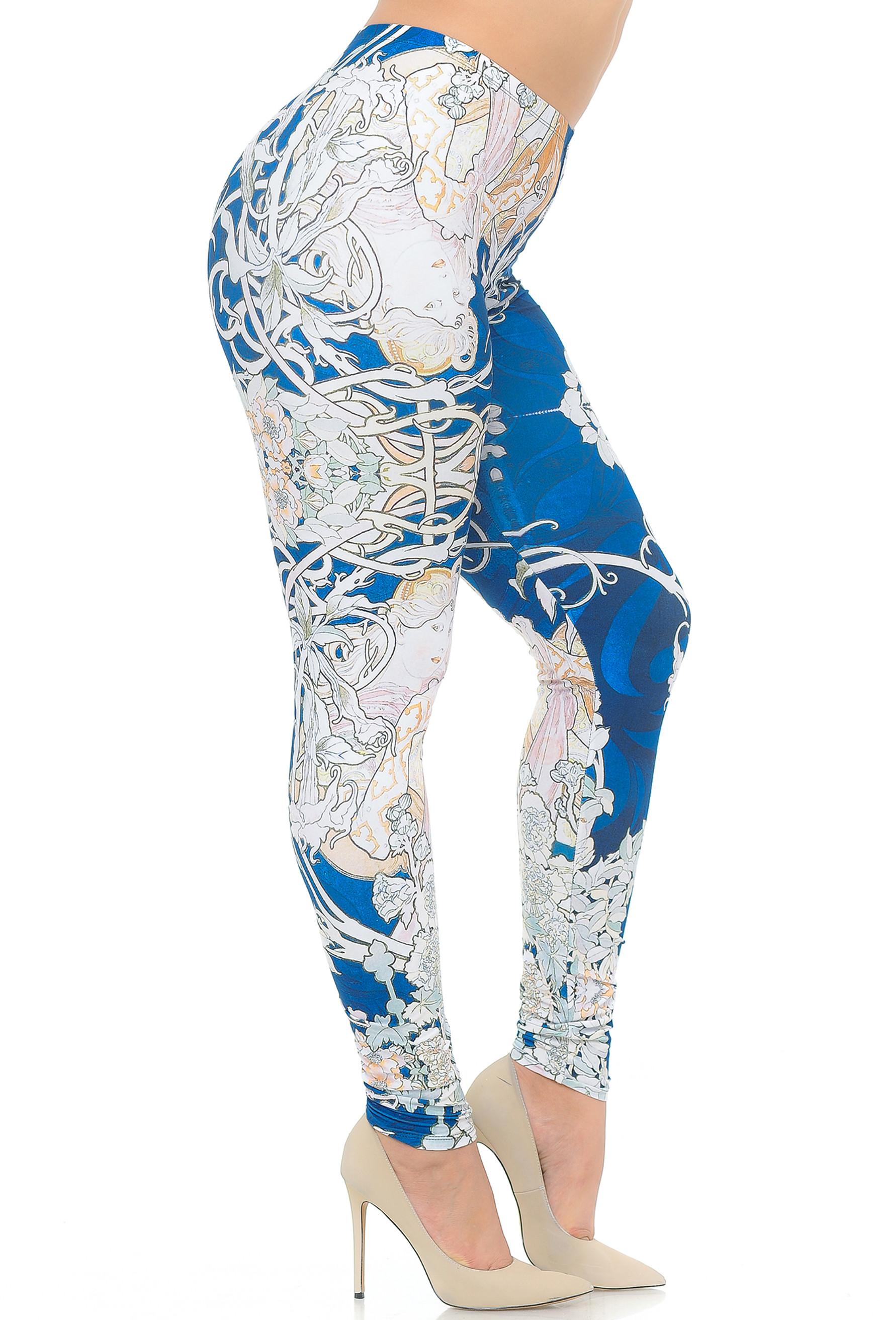 Creamy Soft Twisted Eden Vine Plus Size Extra Plus Size Leggings - 3X-5X - USA Fashion™