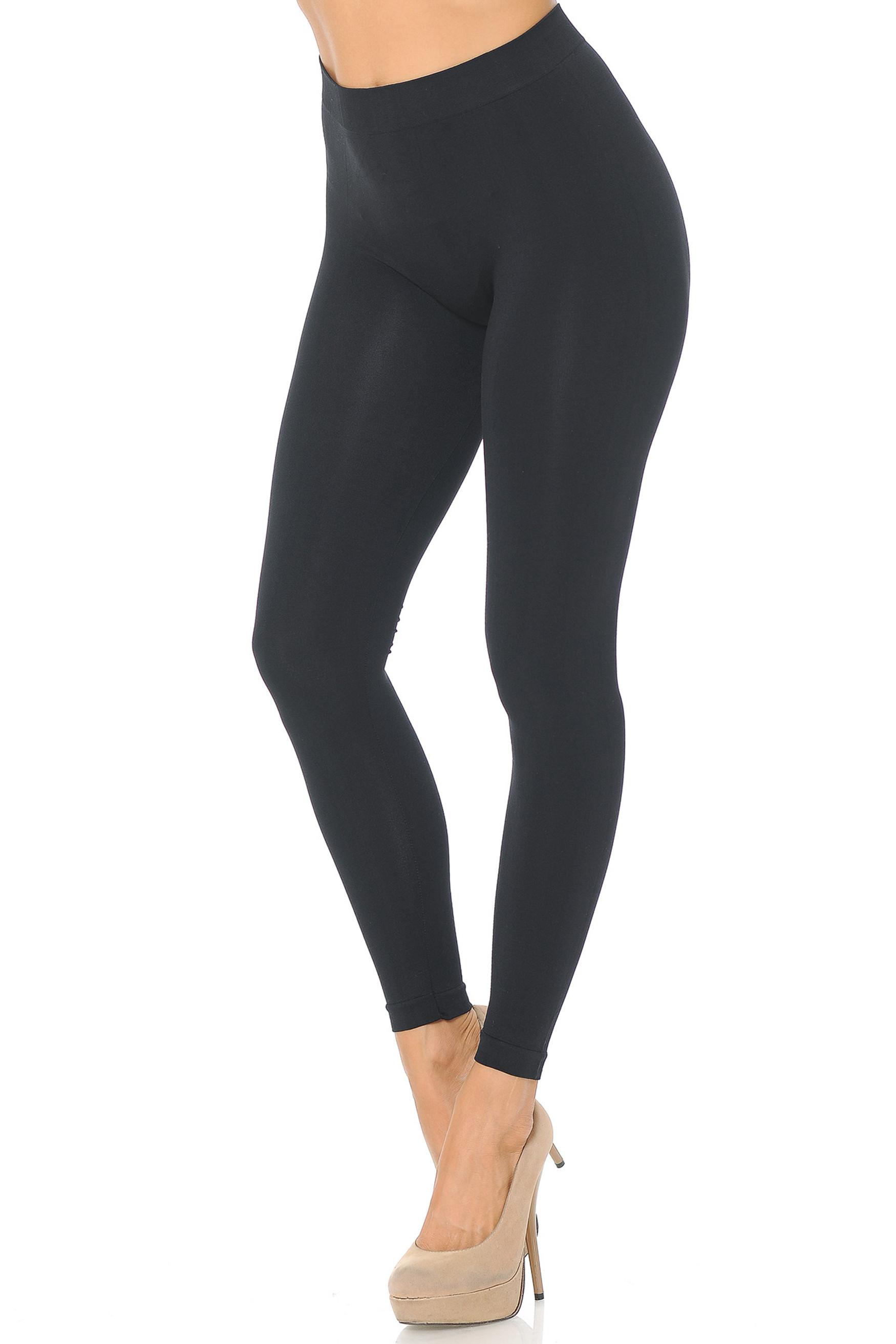 Premium Nylon Spandex Solid Basic Leggings