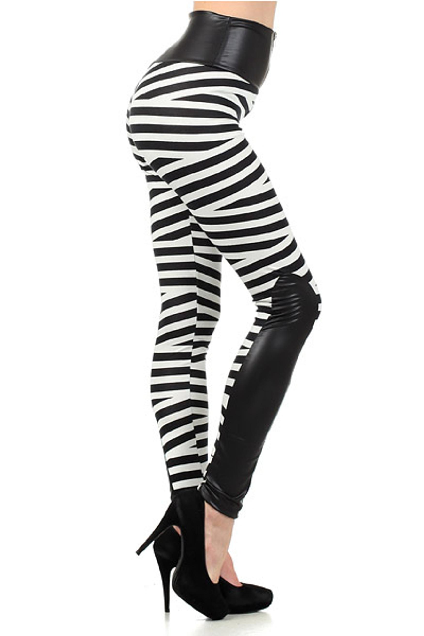 Medusa Bandeau High Waist Leggings Plus Size White