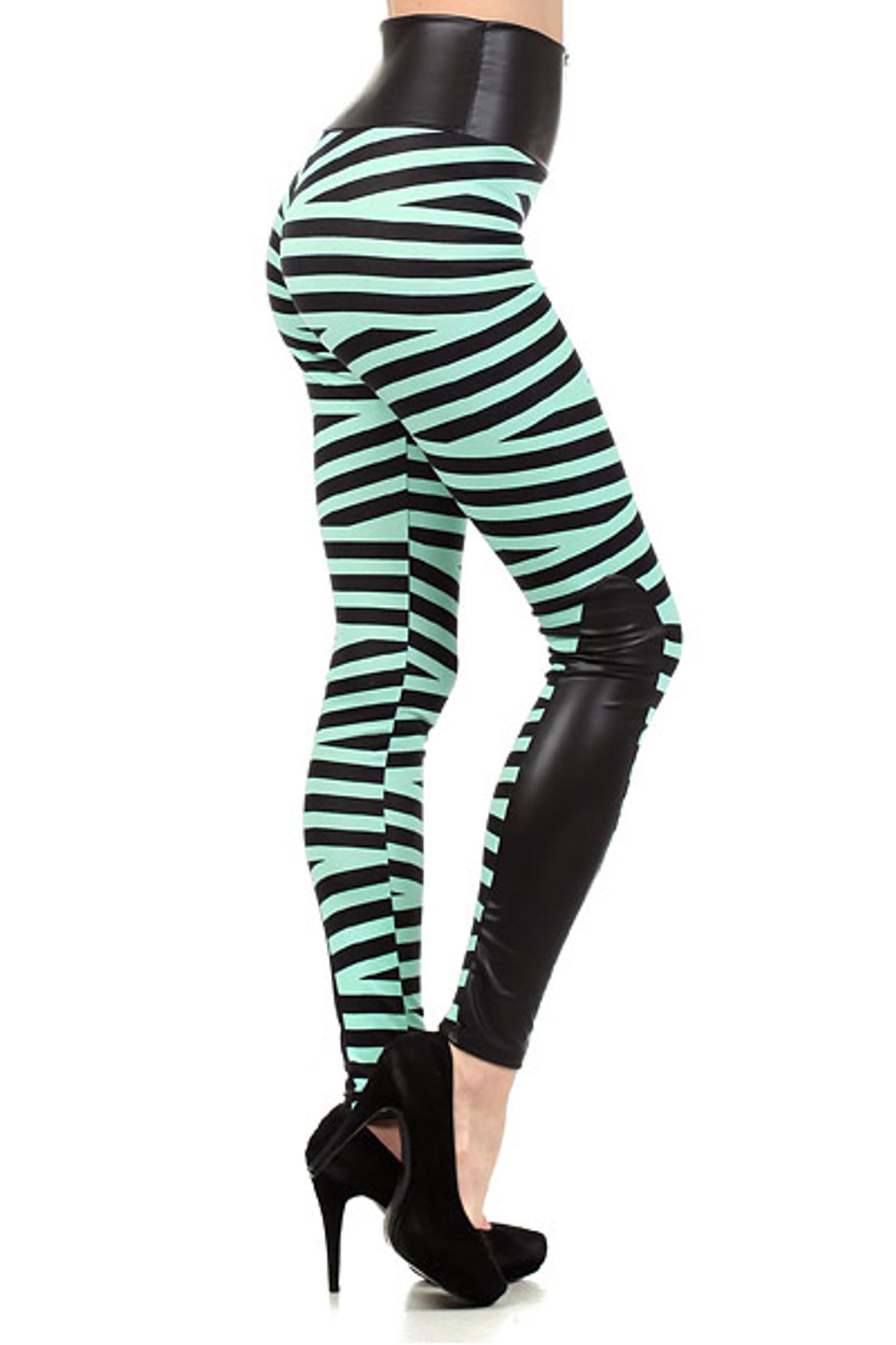 Medusa Bandeau High Waist Leggings Plus Size Mint