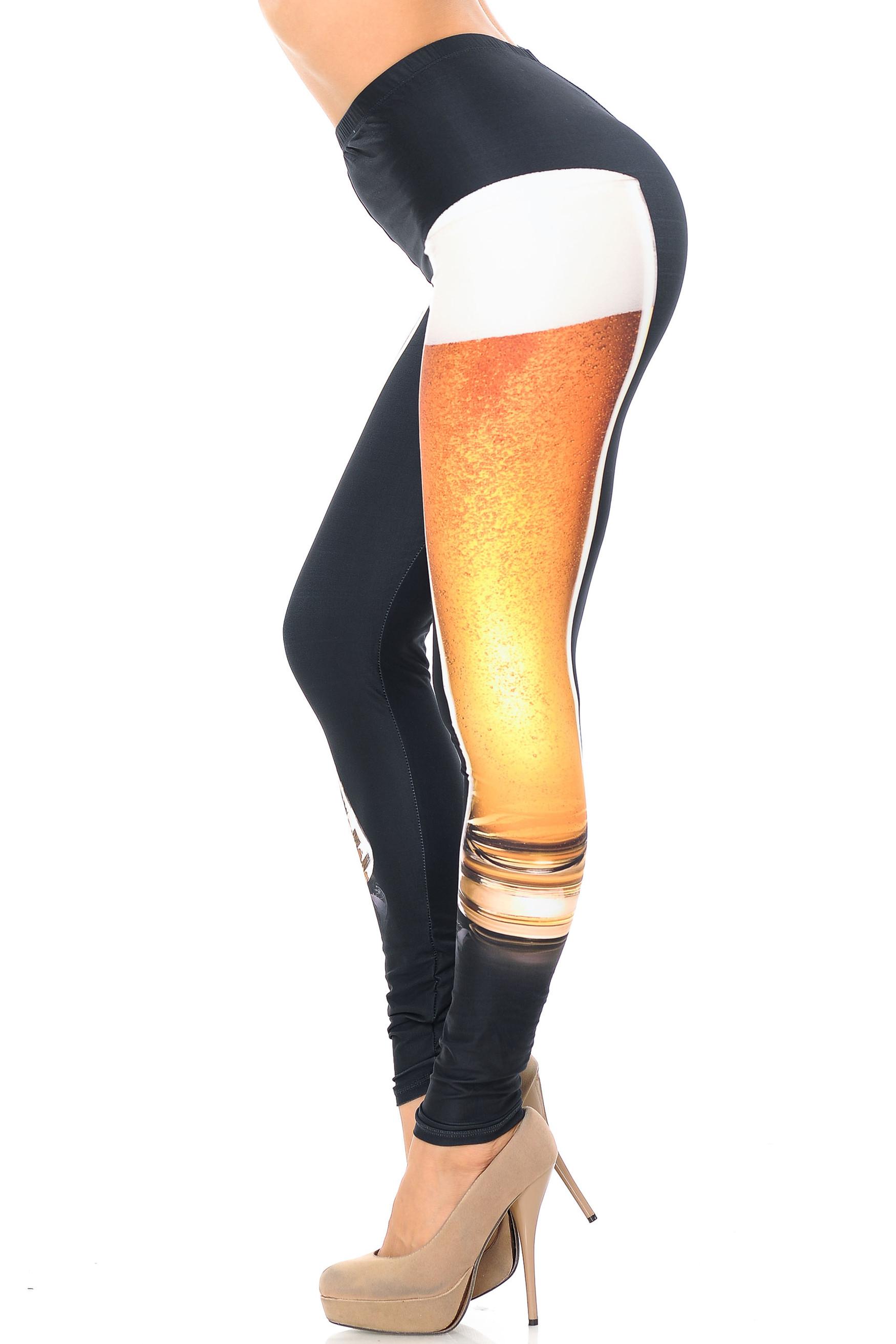 Creamy Soft Draft Beer Plus Size Leggings - USA Fashion™