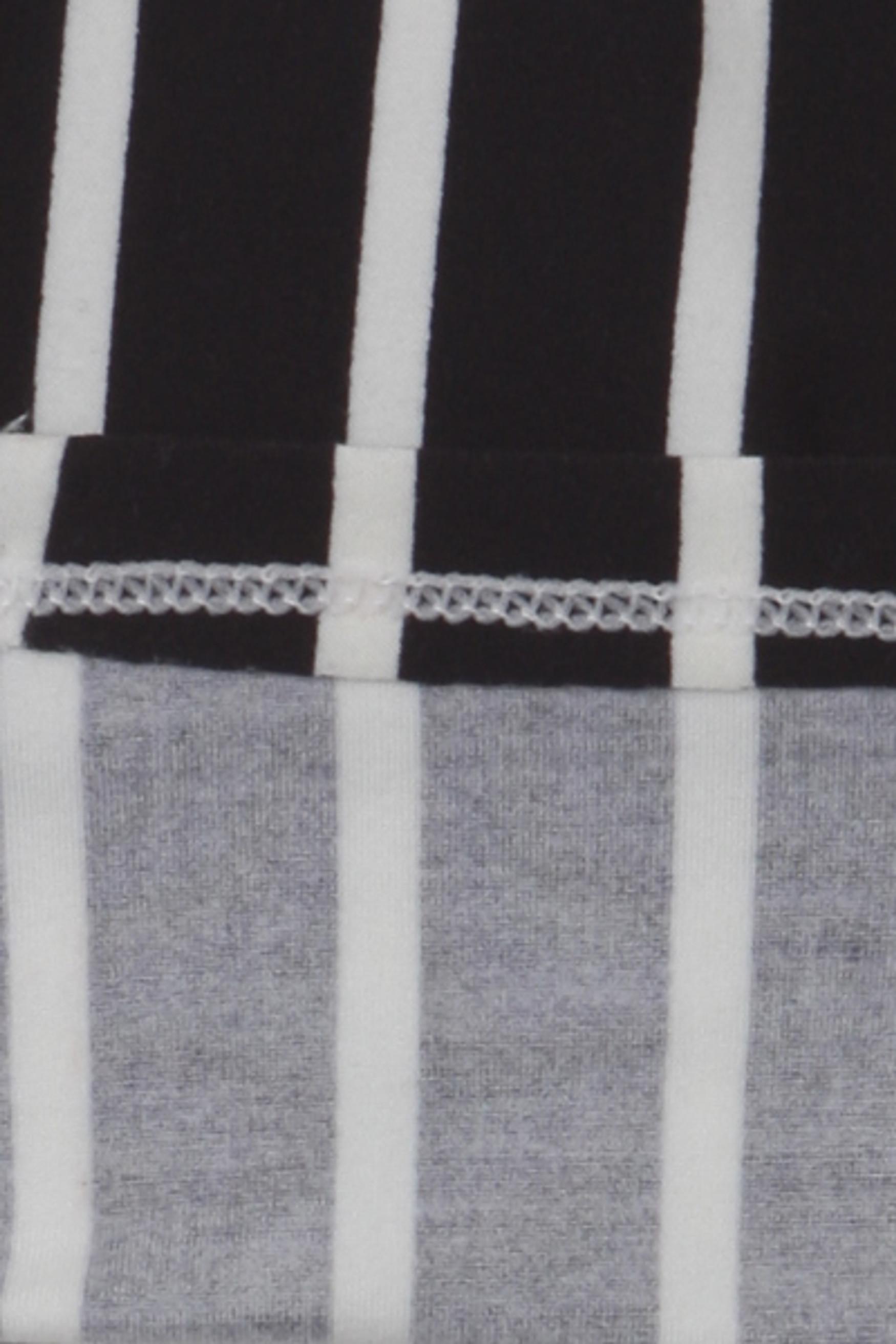 Brushed Black Pinstripe Kids Leggings