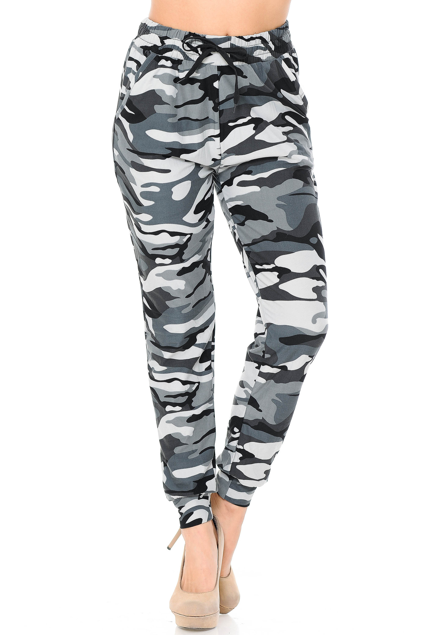 Brushed  Charcoal Camouflage Joggers