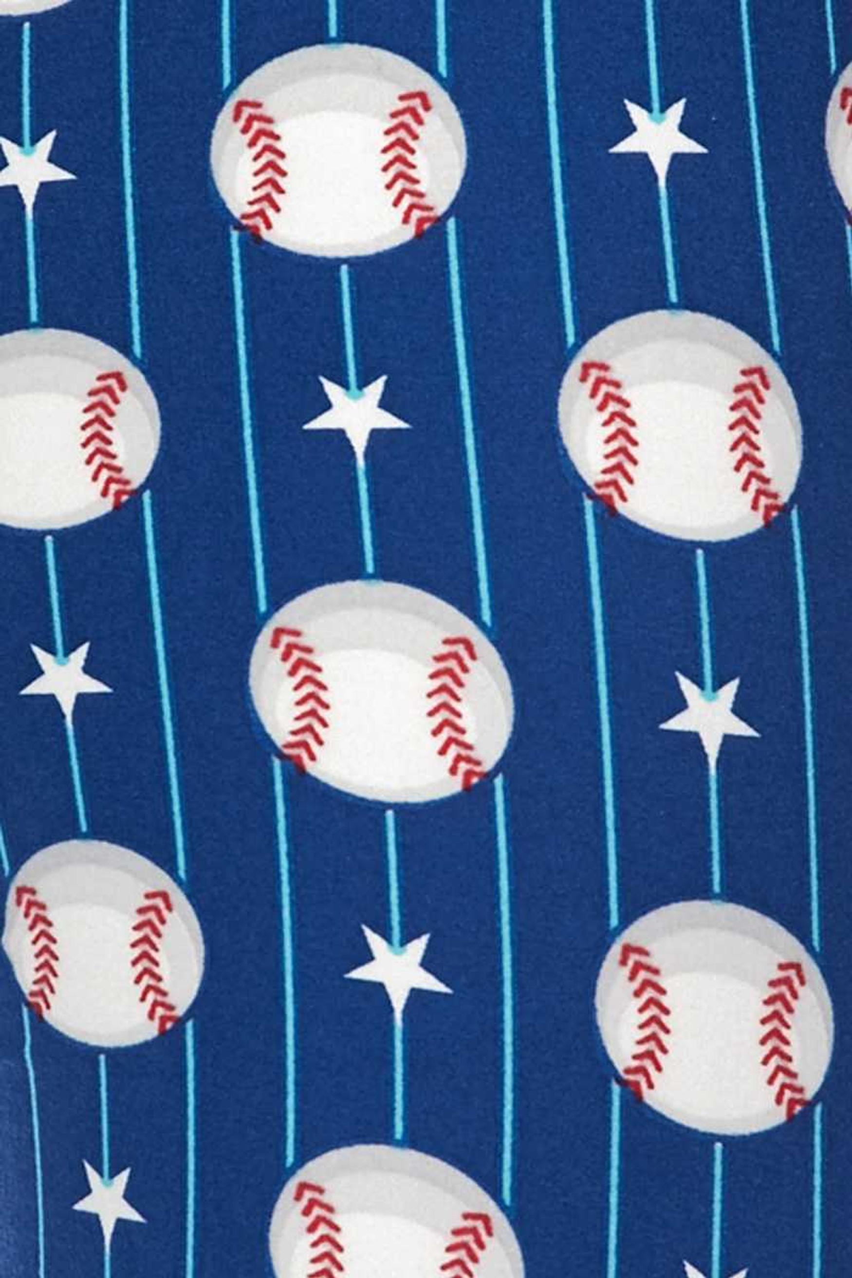 Brushed  Boys of Summer Baseball Extra Plus Size Leggings - 3X-5X