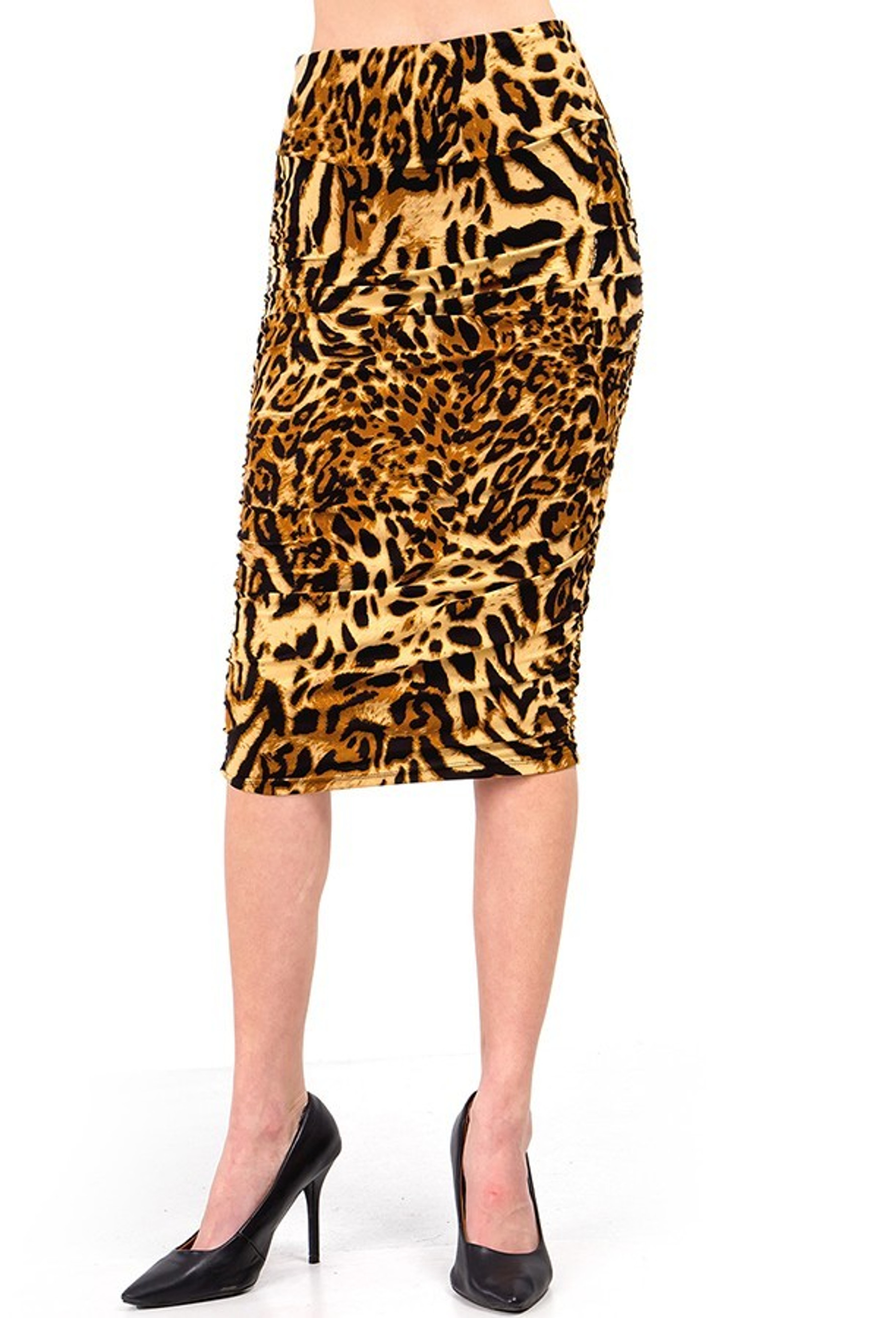 Brushed  Predator Leopard Skirt