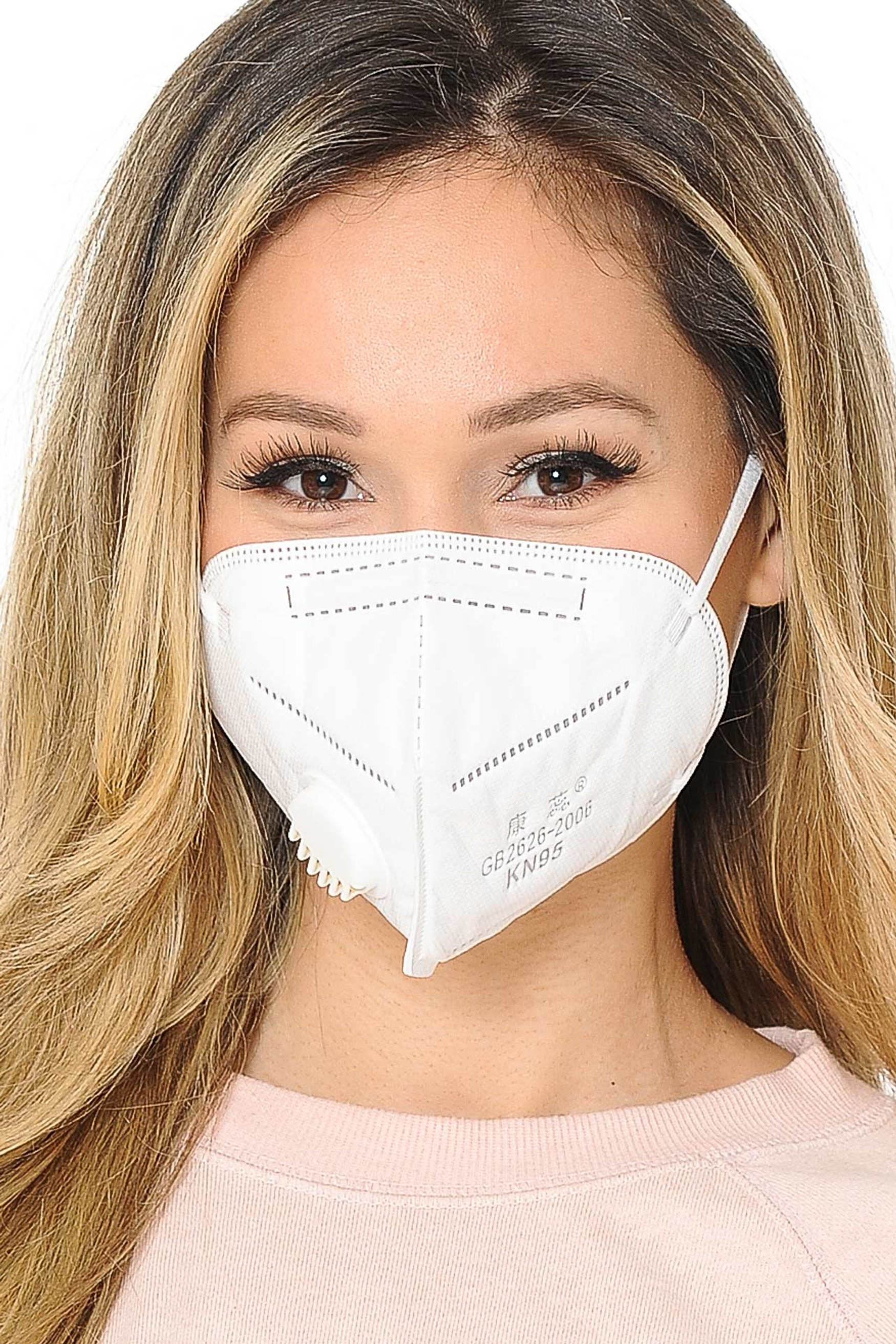 KN95 Face Mask with Air Valve- Singles - Individually Wrapped