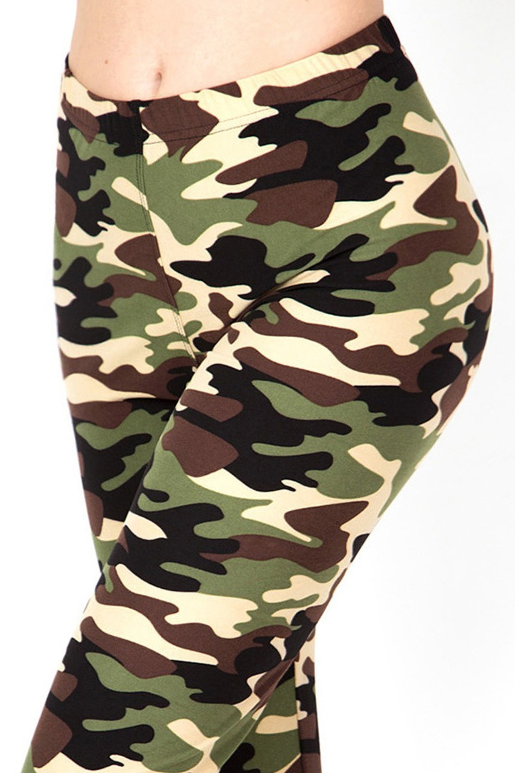 Buttery Soft Active Duty Green Camouflage Leggings