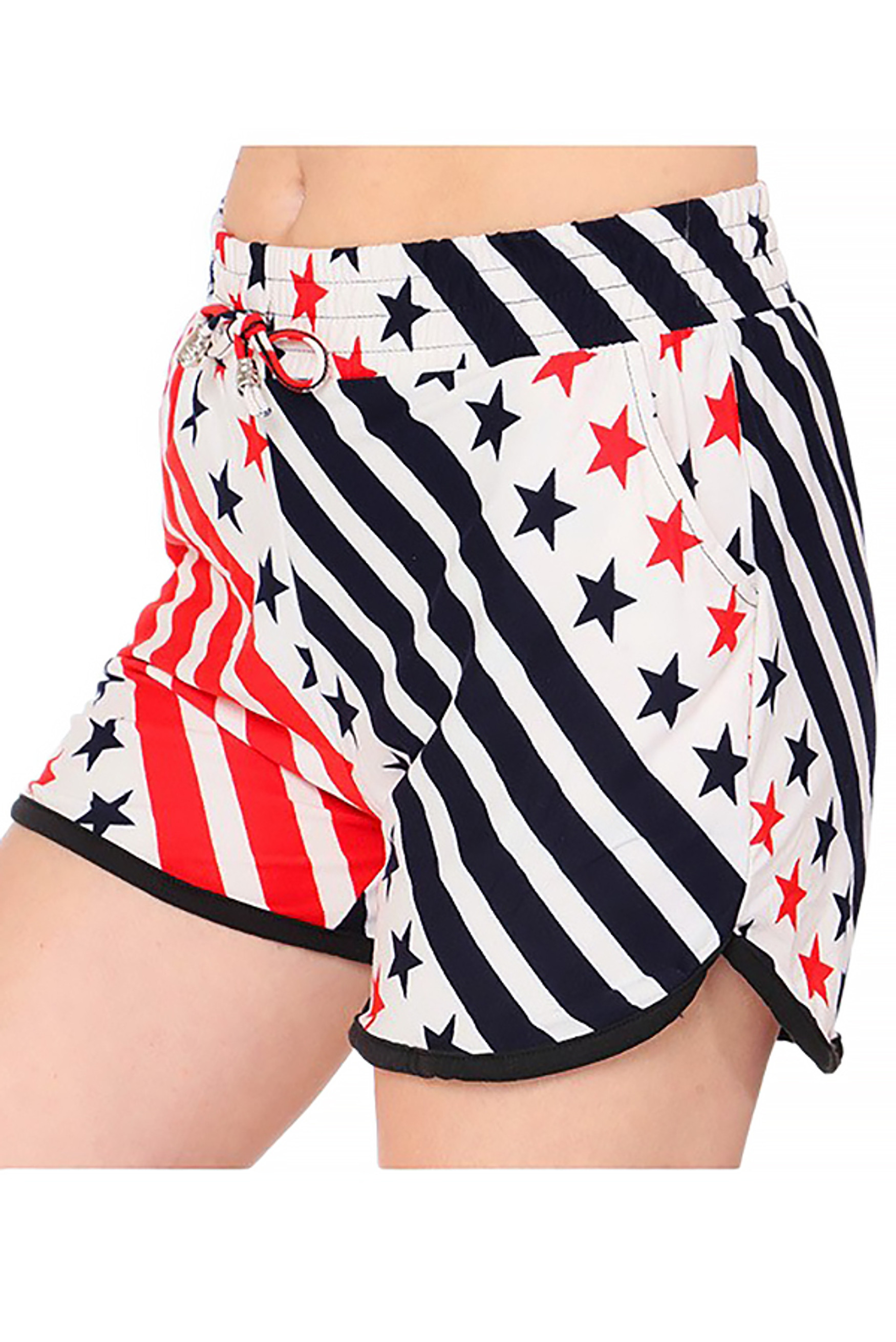 Buttery Soft Twirling USA Flag Dolphin Shorts