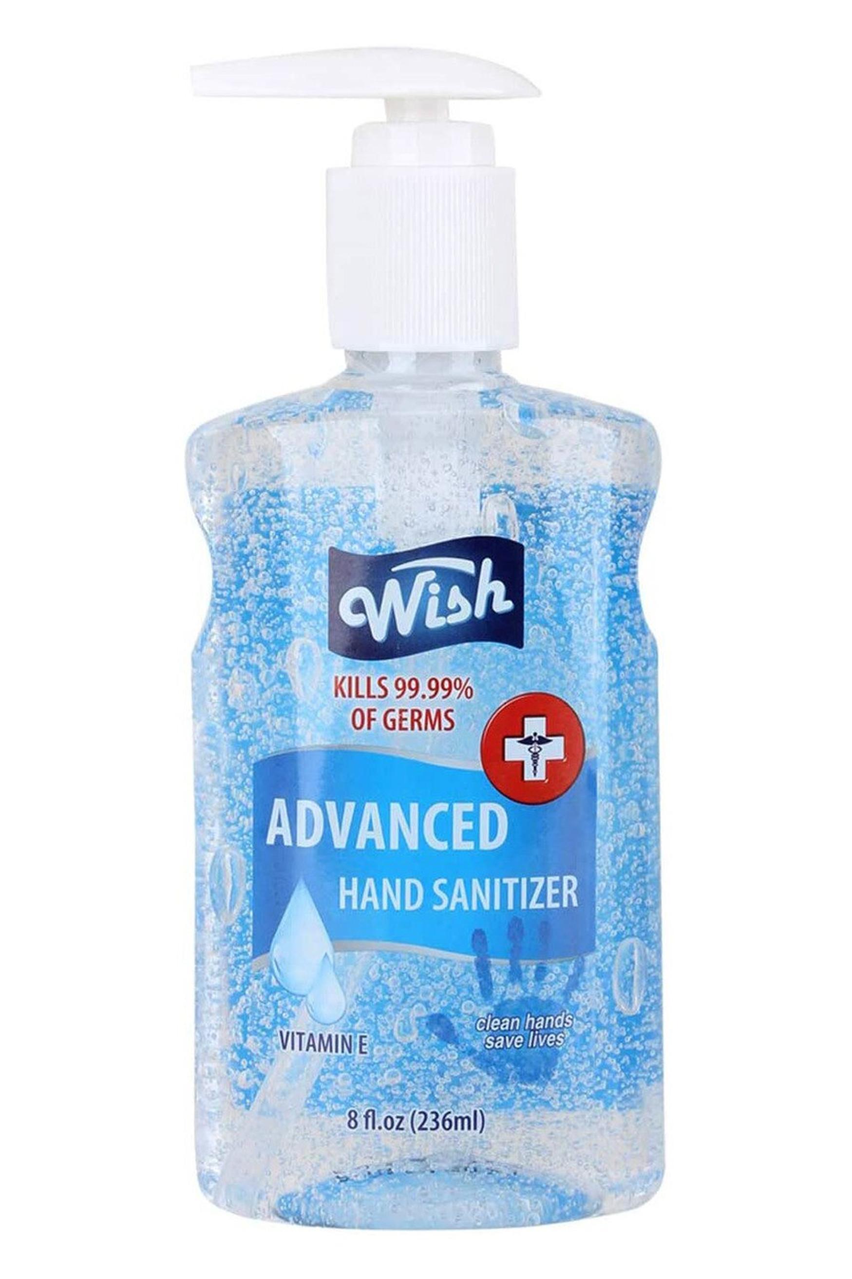 6 Pack - Wish 8 oz Hand Sanitizer - 62% Alcohol
