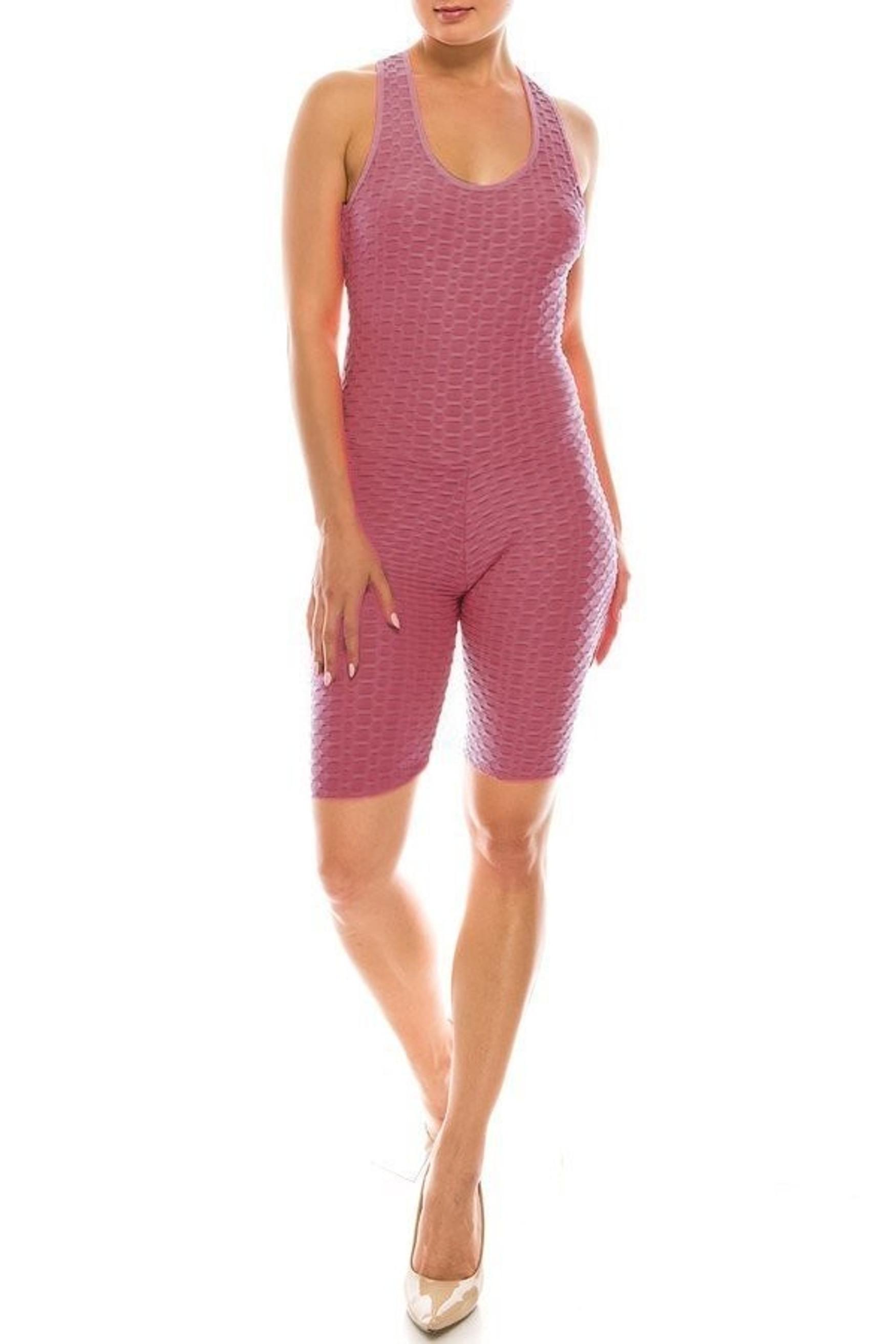 Premium Criss Cross Scrunch Butt Biker Short Bodysuit