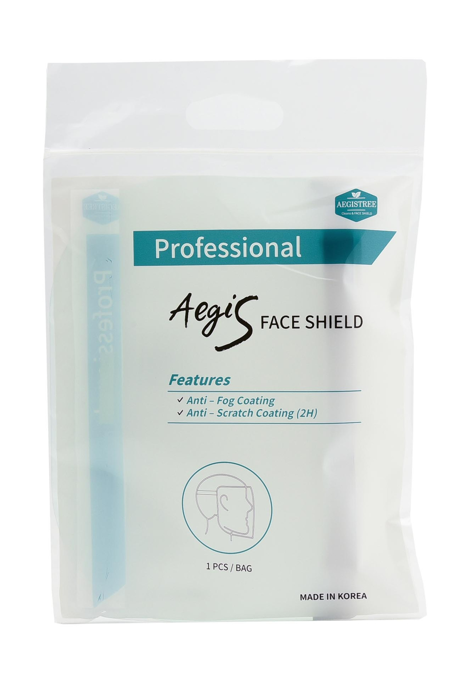 Professional Grade Anti Fog Face Shield - Individually Wrapped - 5 Pack