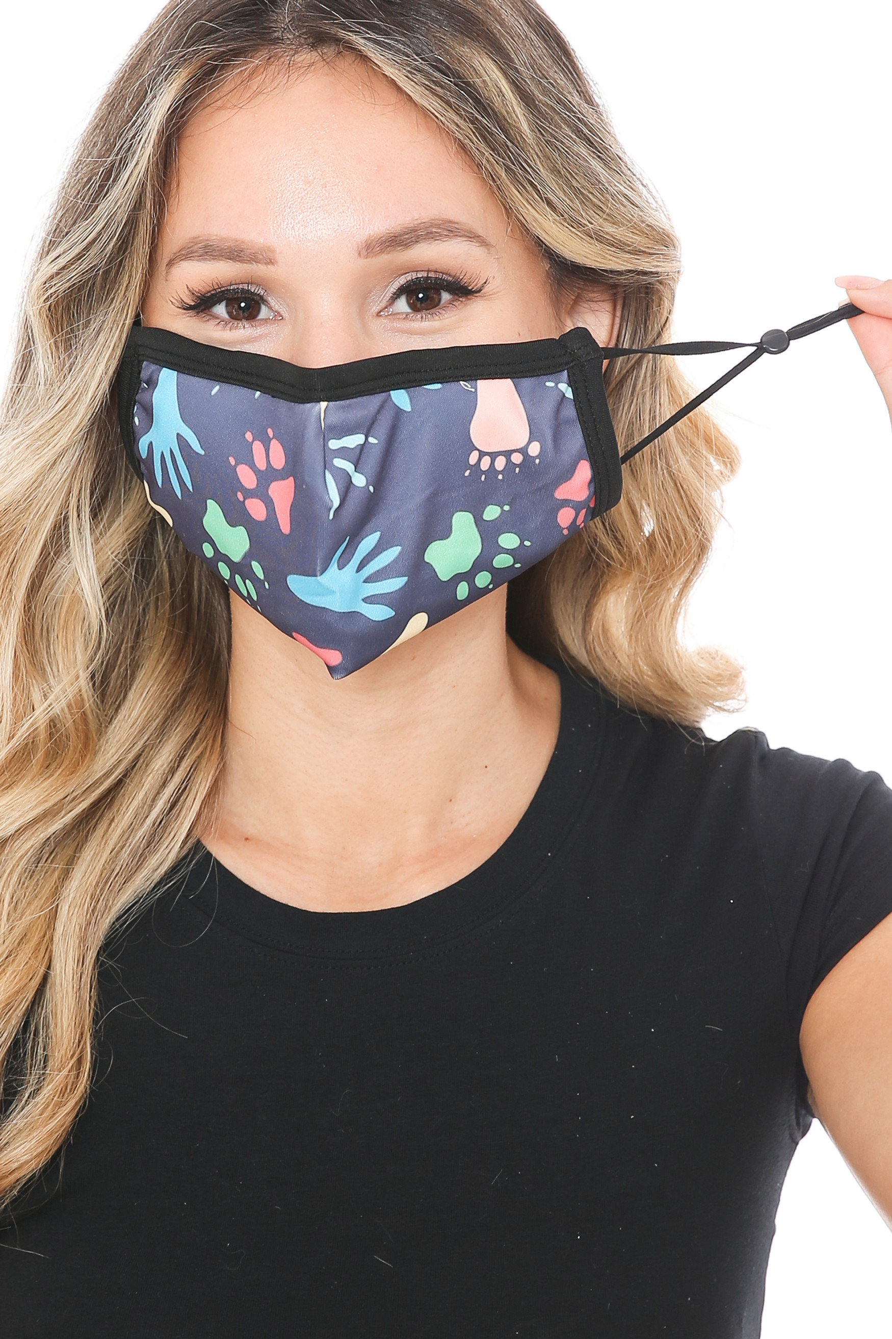 Animal Tracks Graphic Print Face Mask