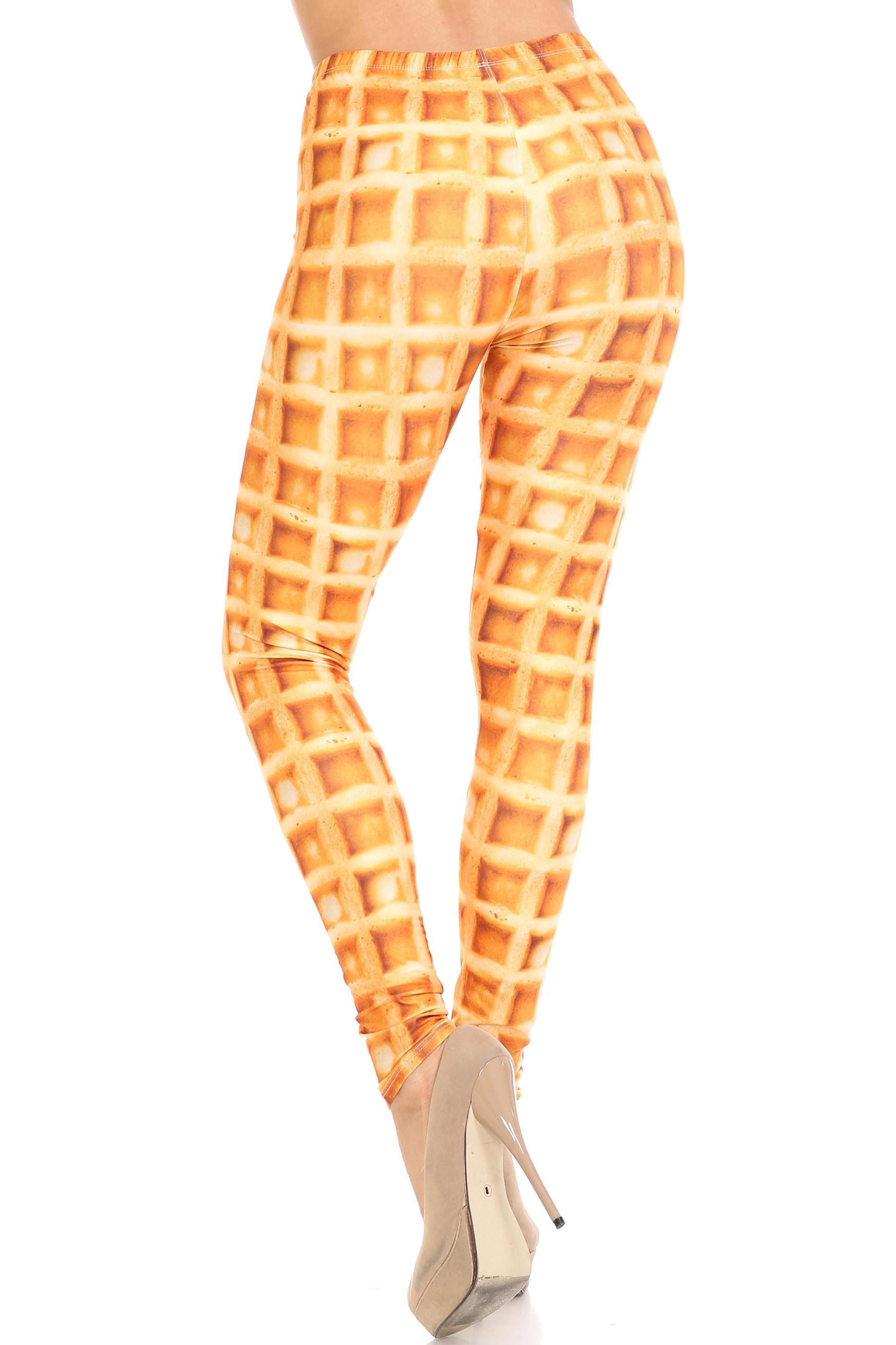 Creamy Soft Waffle Plus Size Leggings - By USA Fashion™
