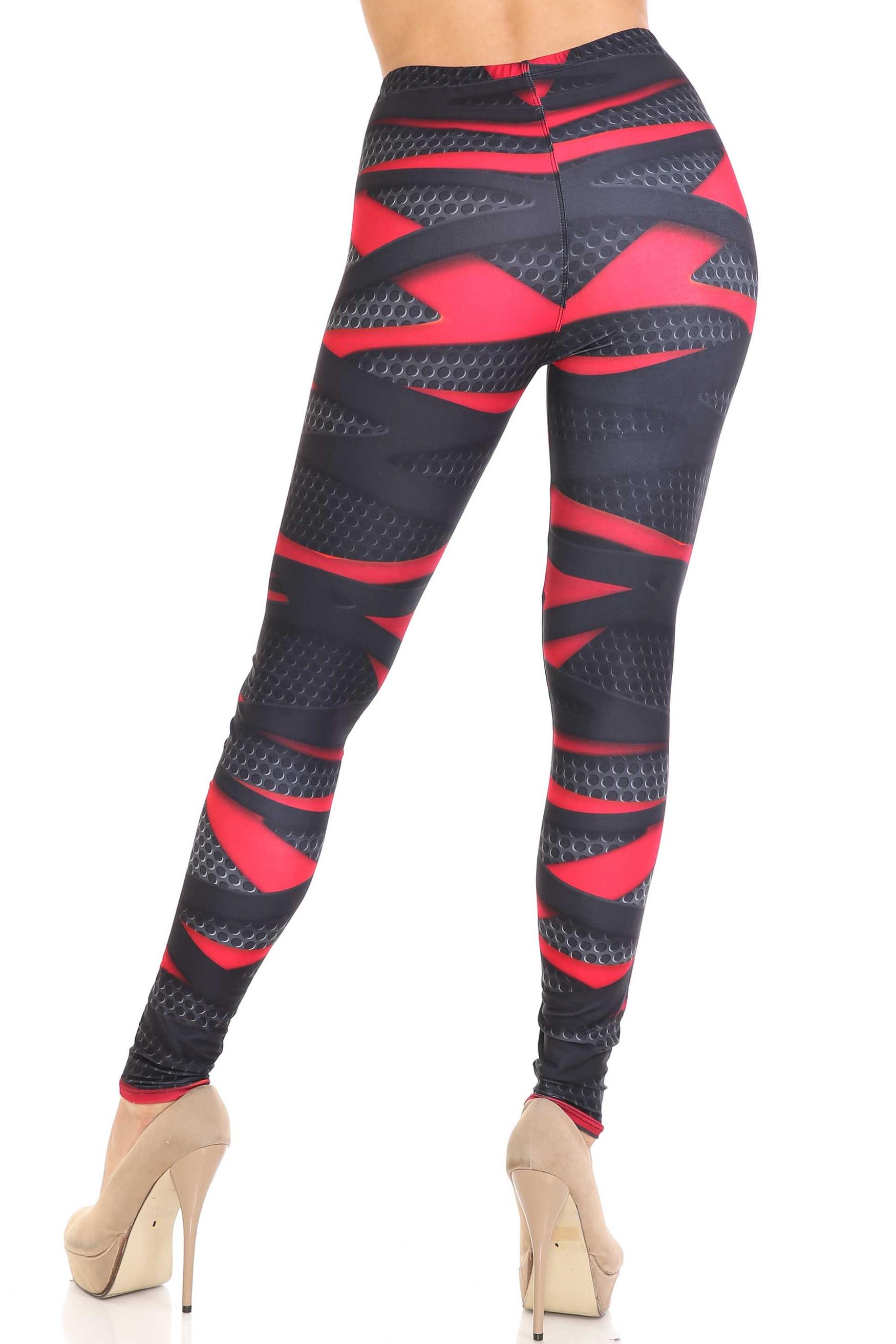 Creamy Soft Cascading 3D Sport Wrap Plus Size Leggings - USA Fashion™
