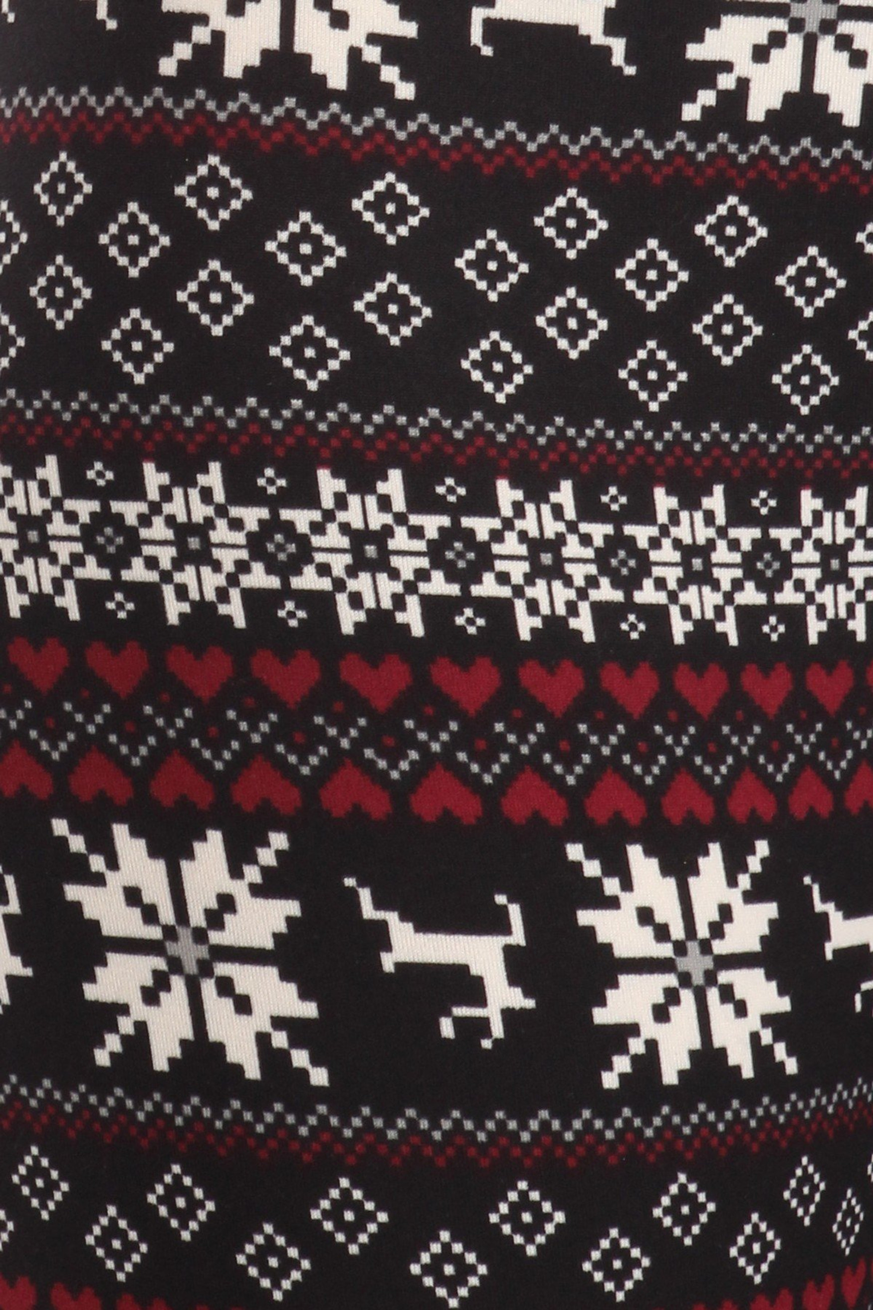 Soft Fleece Reindeer Dashing Through the Snow Holiday Leggings
