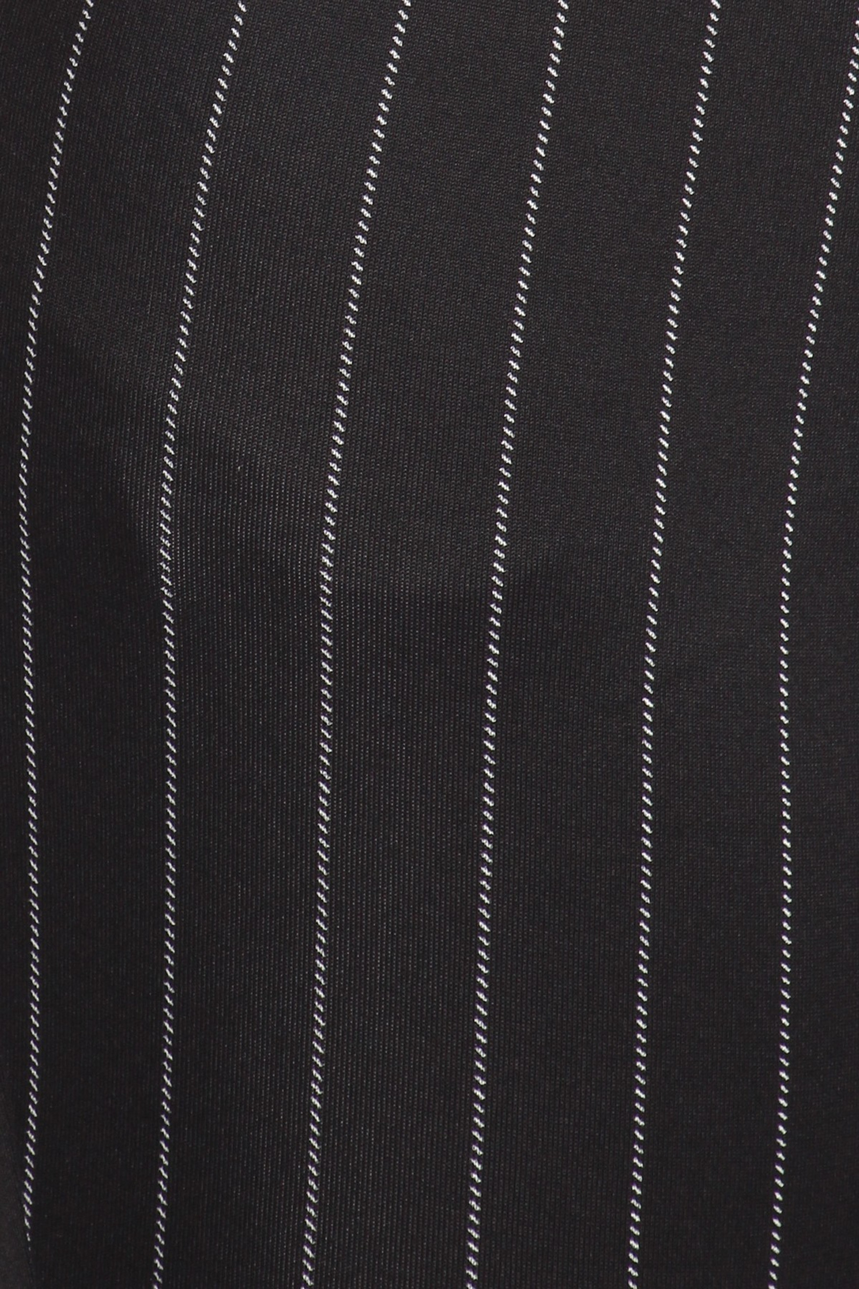 Black and White Pinstripe High Waisted Body Sculpting Treggings with Pockets