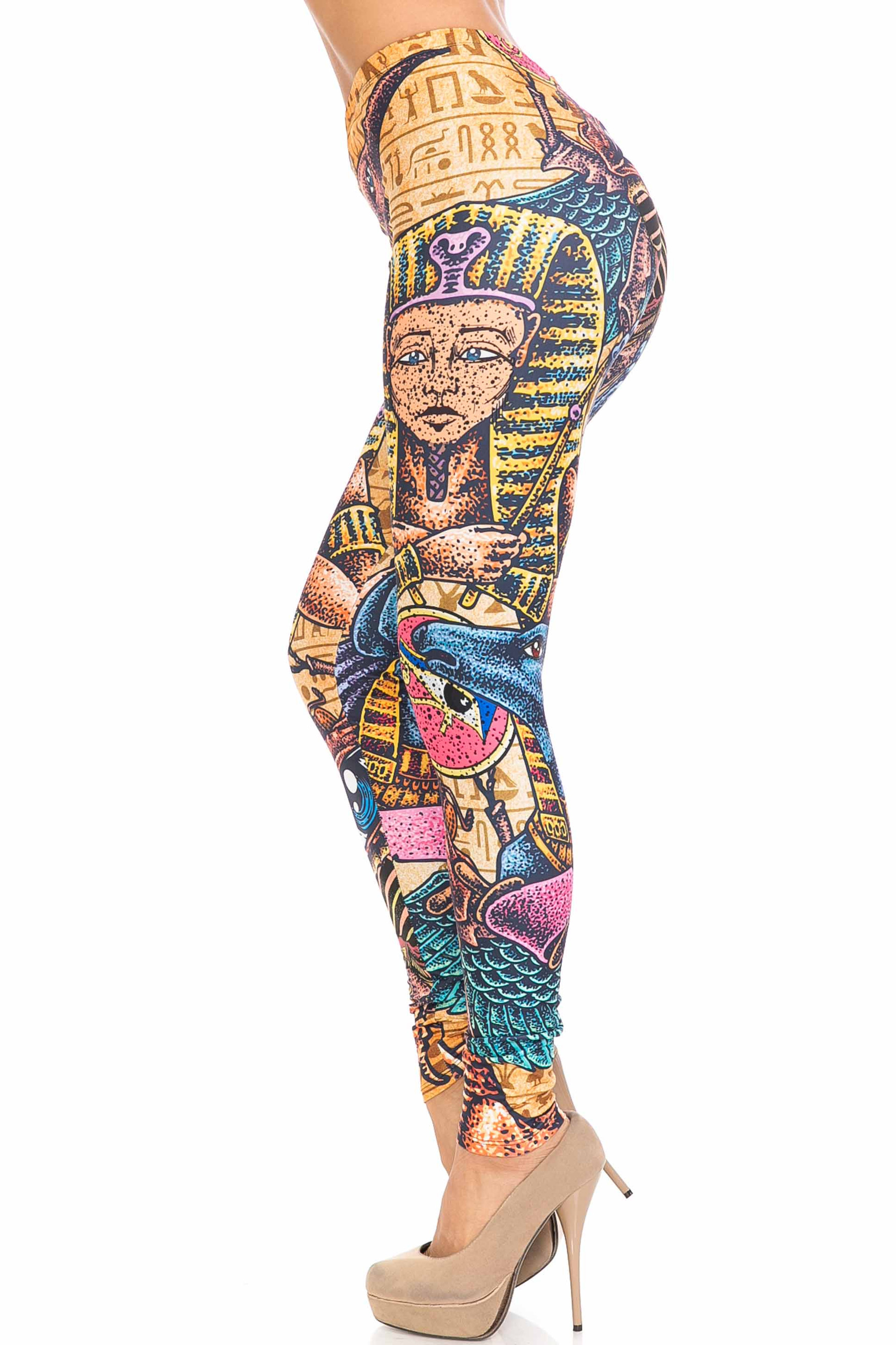 Creamy Soft Gods of Egypt Extra Plus Size Leggings - 3X-5X - USA Fashion™