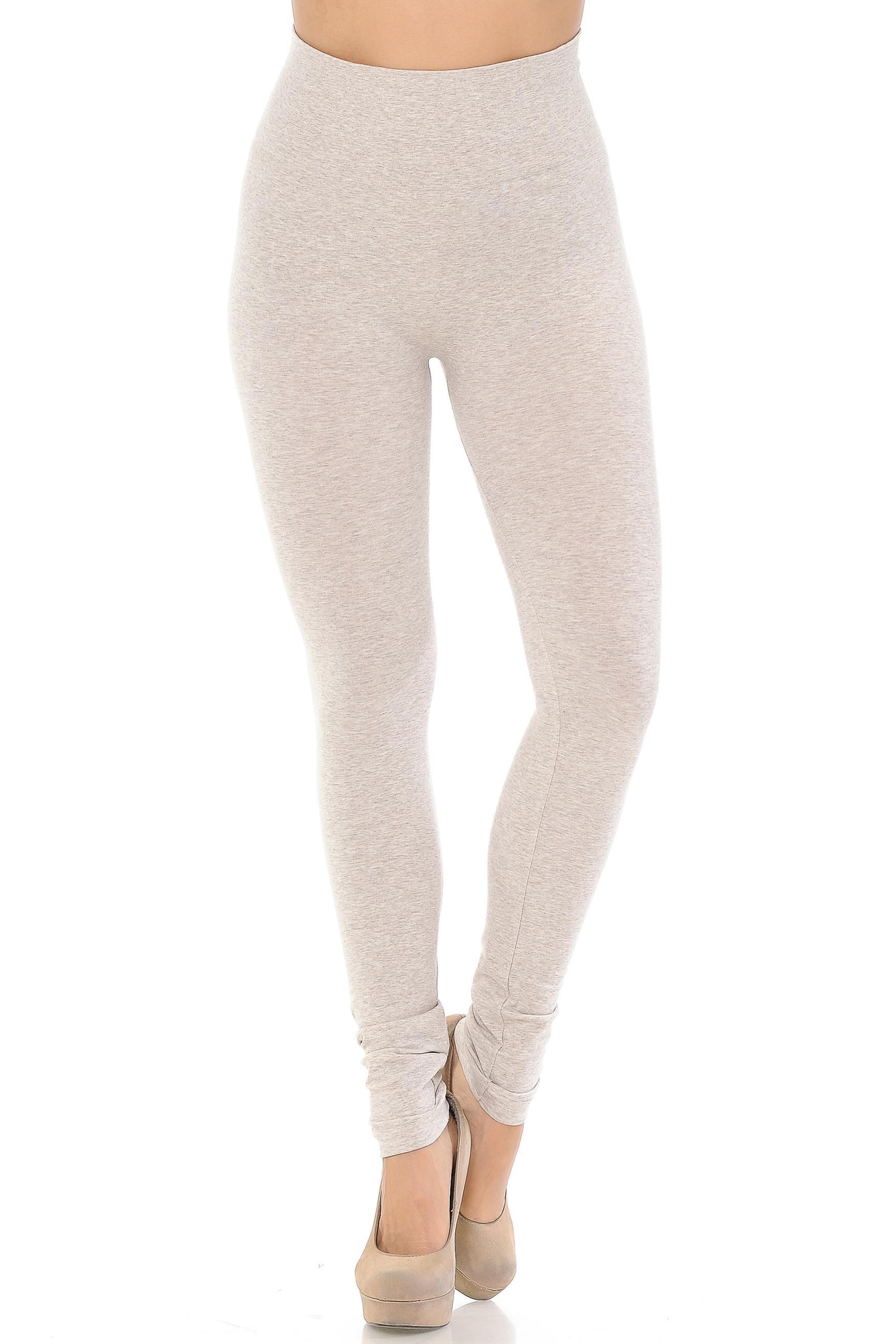 Comfy Heathered High Waisted Leggings