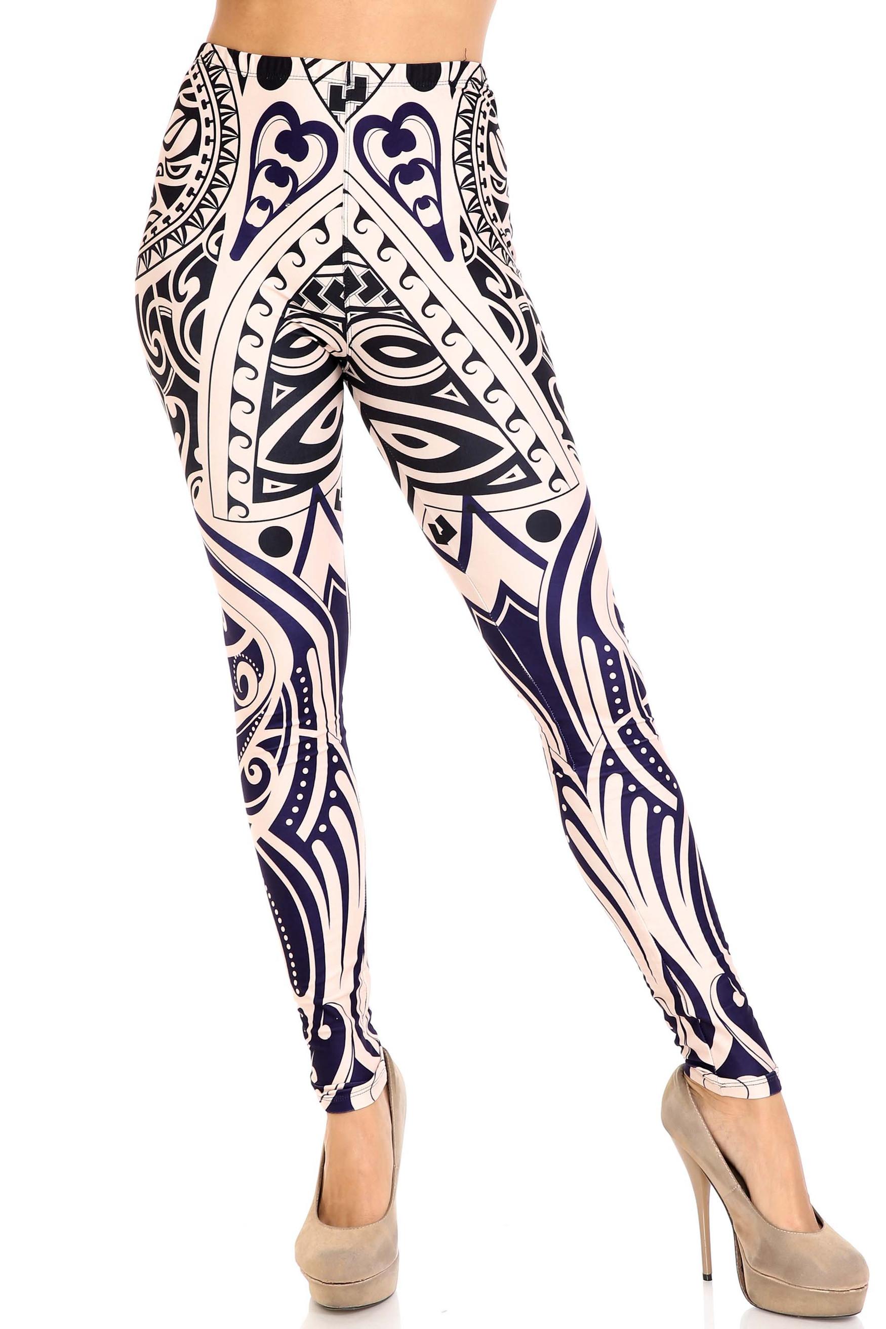Front side image of Creamy Soft Valhalla Plus Size Leggings - USA Fashion™