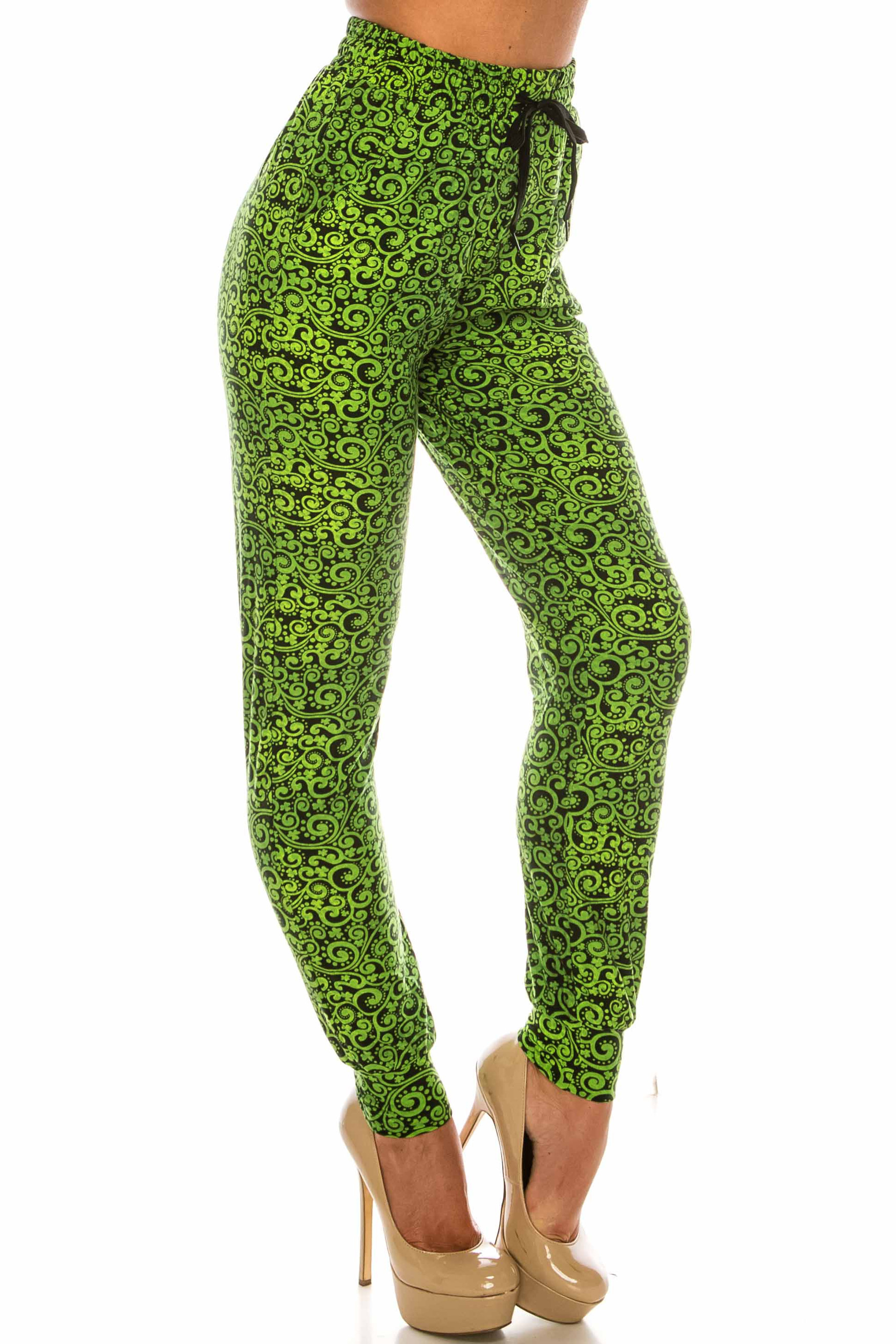 Buttery Soft Green Irish Vine Joggers - LIMITED EDITION