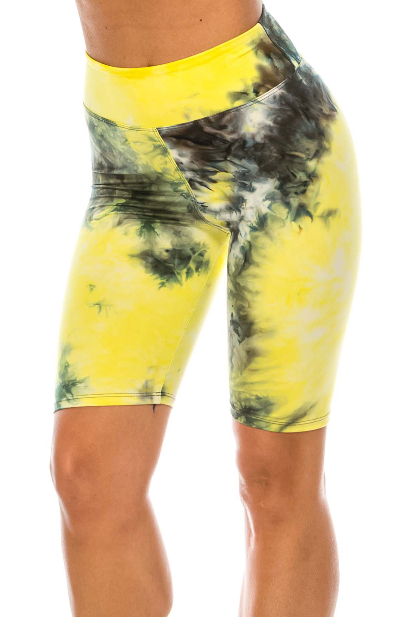 Buttery Soft Tie Dye High Waisted Biker Shorts - 3 Inch Waist