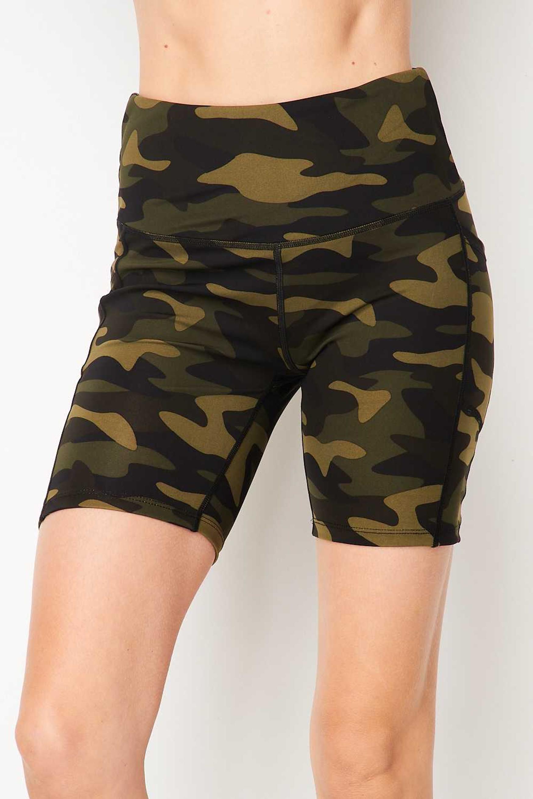 Sport High Waisted Camouflage Biker Shorts