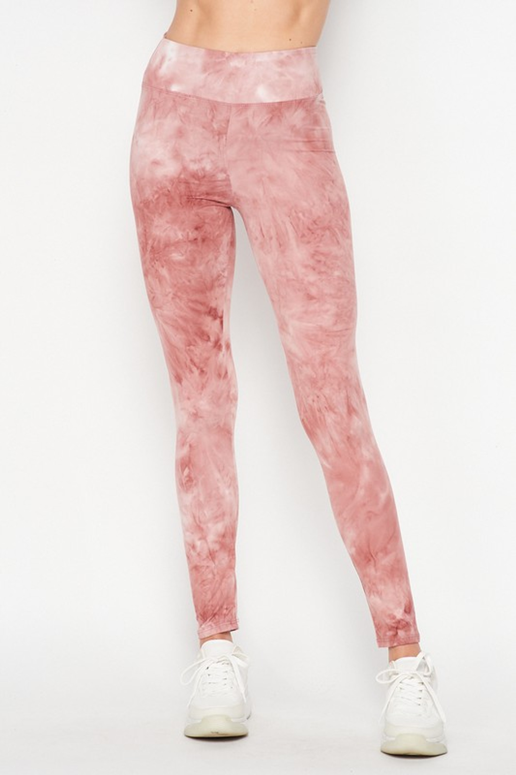 Front Mauve Buttery Soft Tie Dye High Waisted Leggings