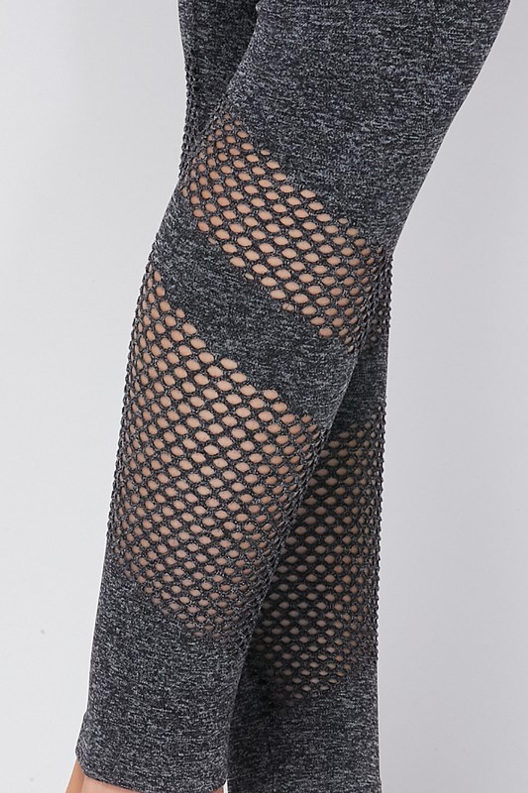 Premium 2 Piece Charcoal Bra Top and Leggings Sport Set