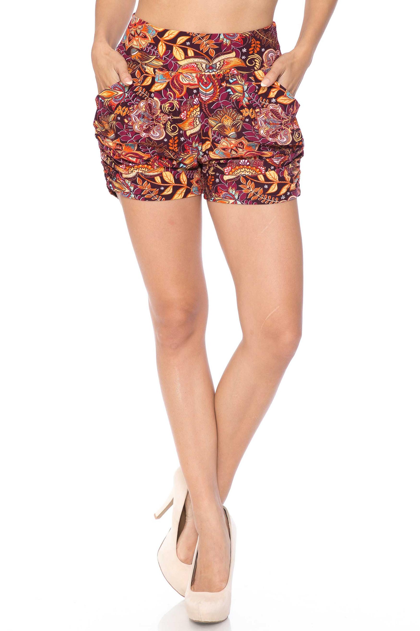 Summer Floral Mezzanine Harem Shorts