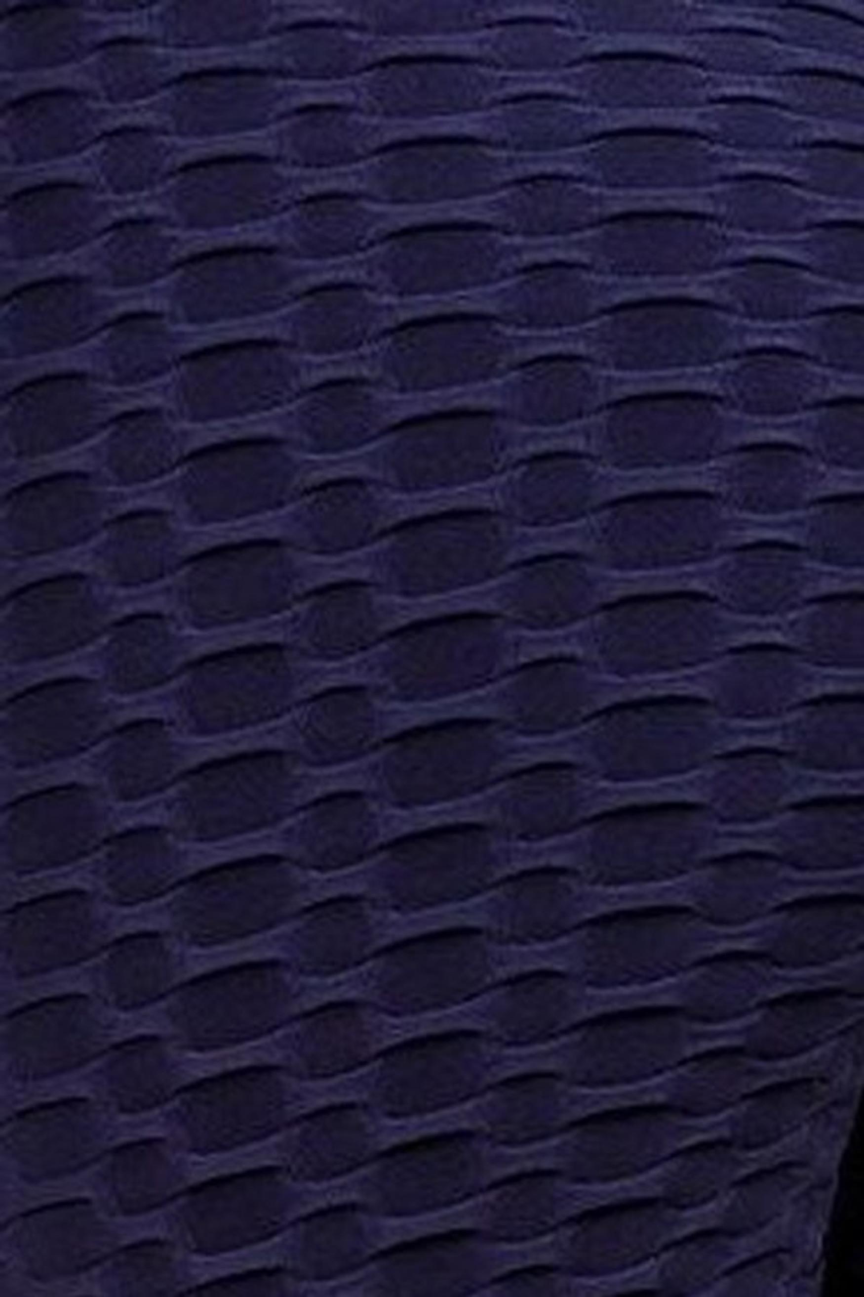 Navy 2 Piece Scrunch Butt Shorts and Crisscross Crop Top Set