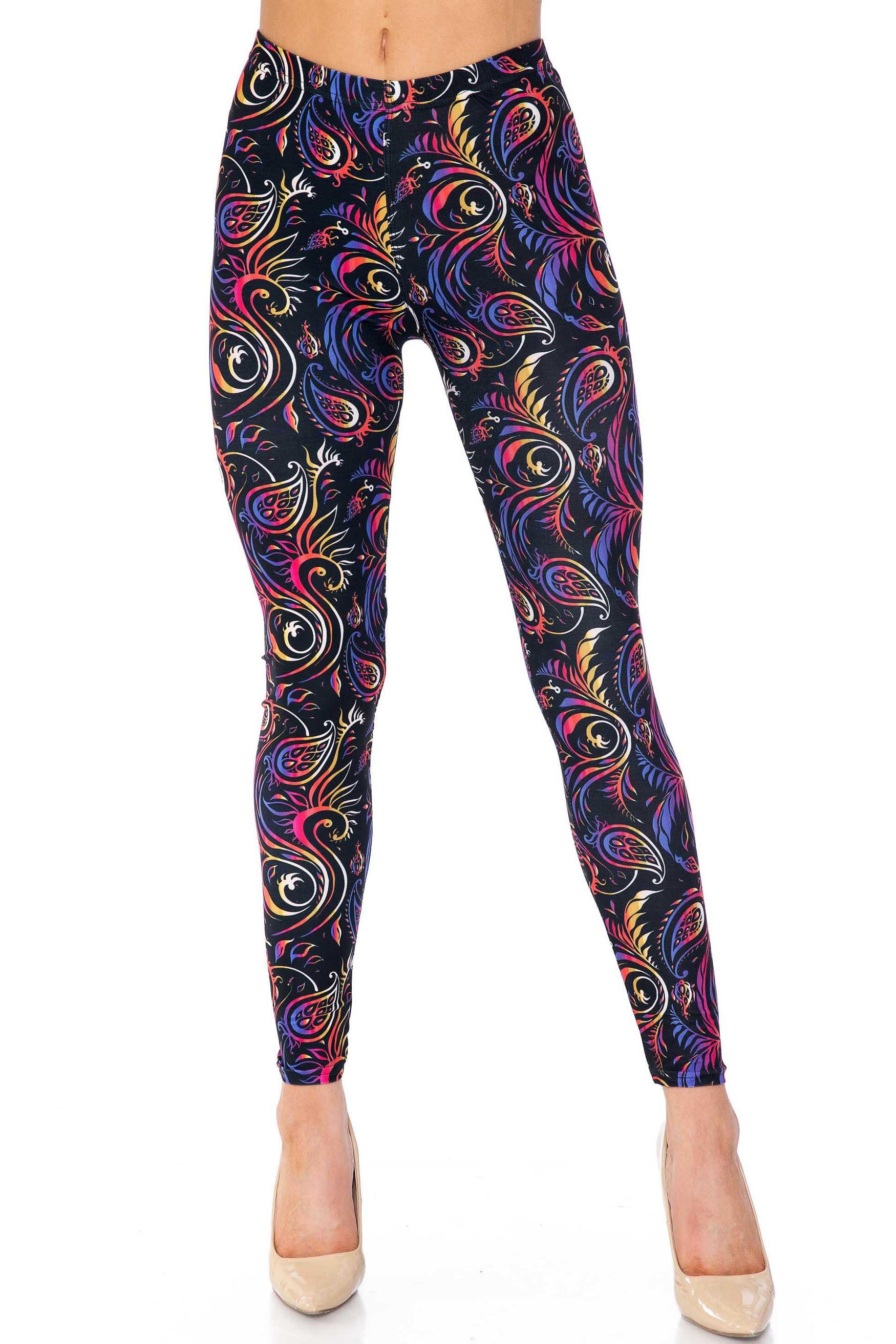 Creamy Soft Ombre Paisley Swirl Leggings - USA Fashion™