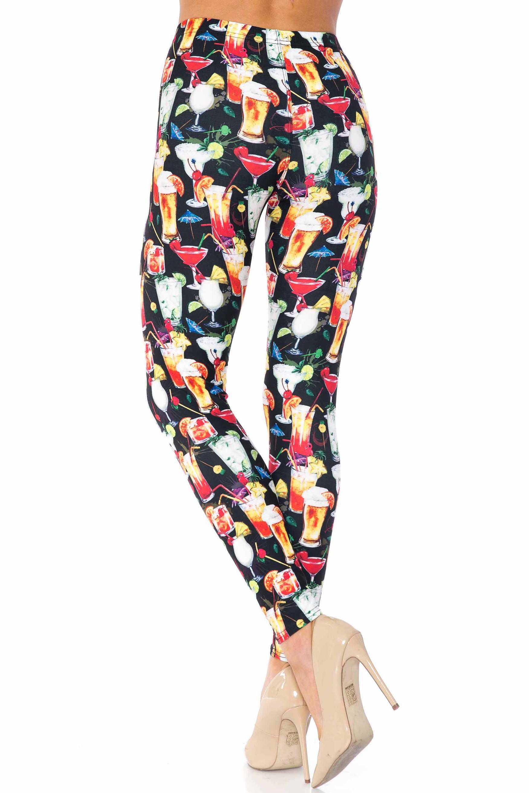 Creamy Soft Tropical Mocktail Kids Leggings - USA Fashion™