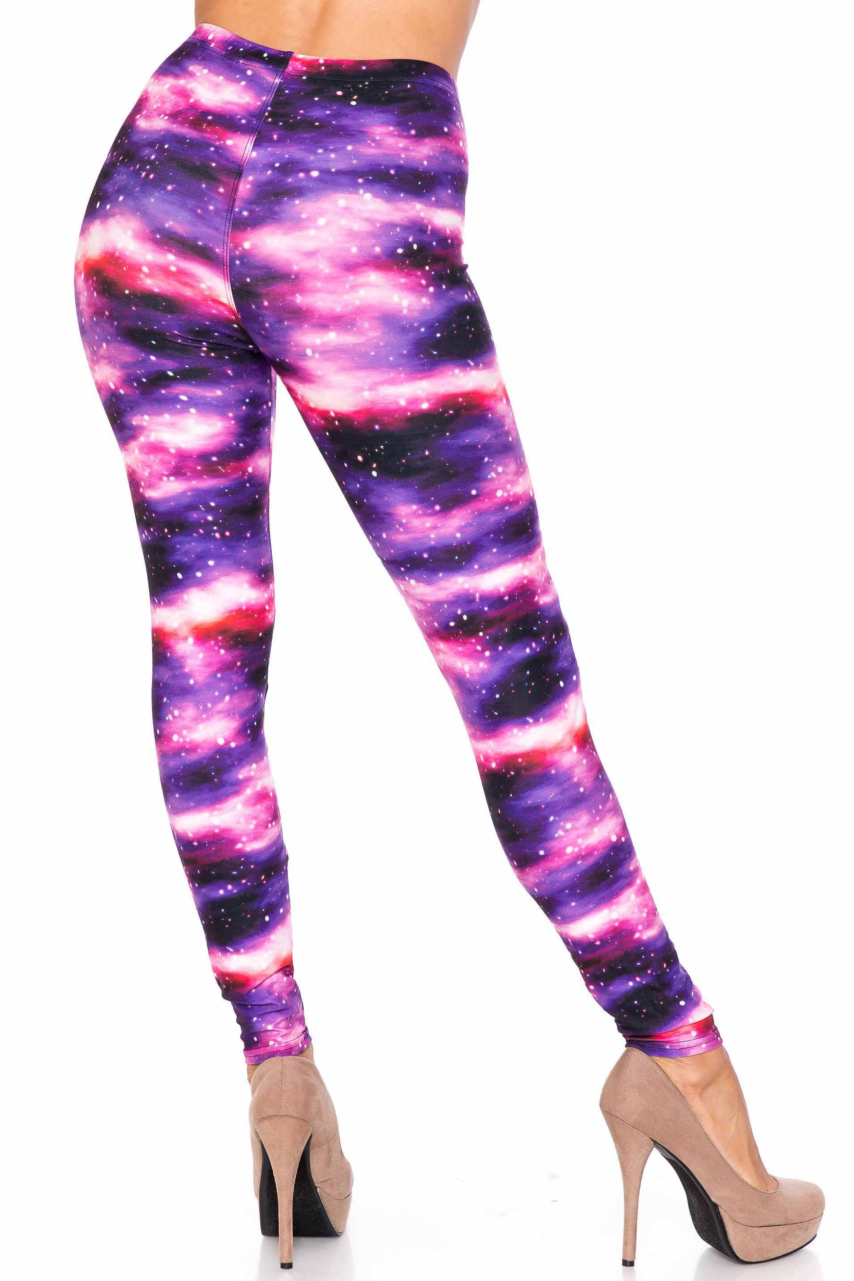 Creamy Soft Purple Mist Extra Plus Size Leggings - 3X-5X - USA Fashion™