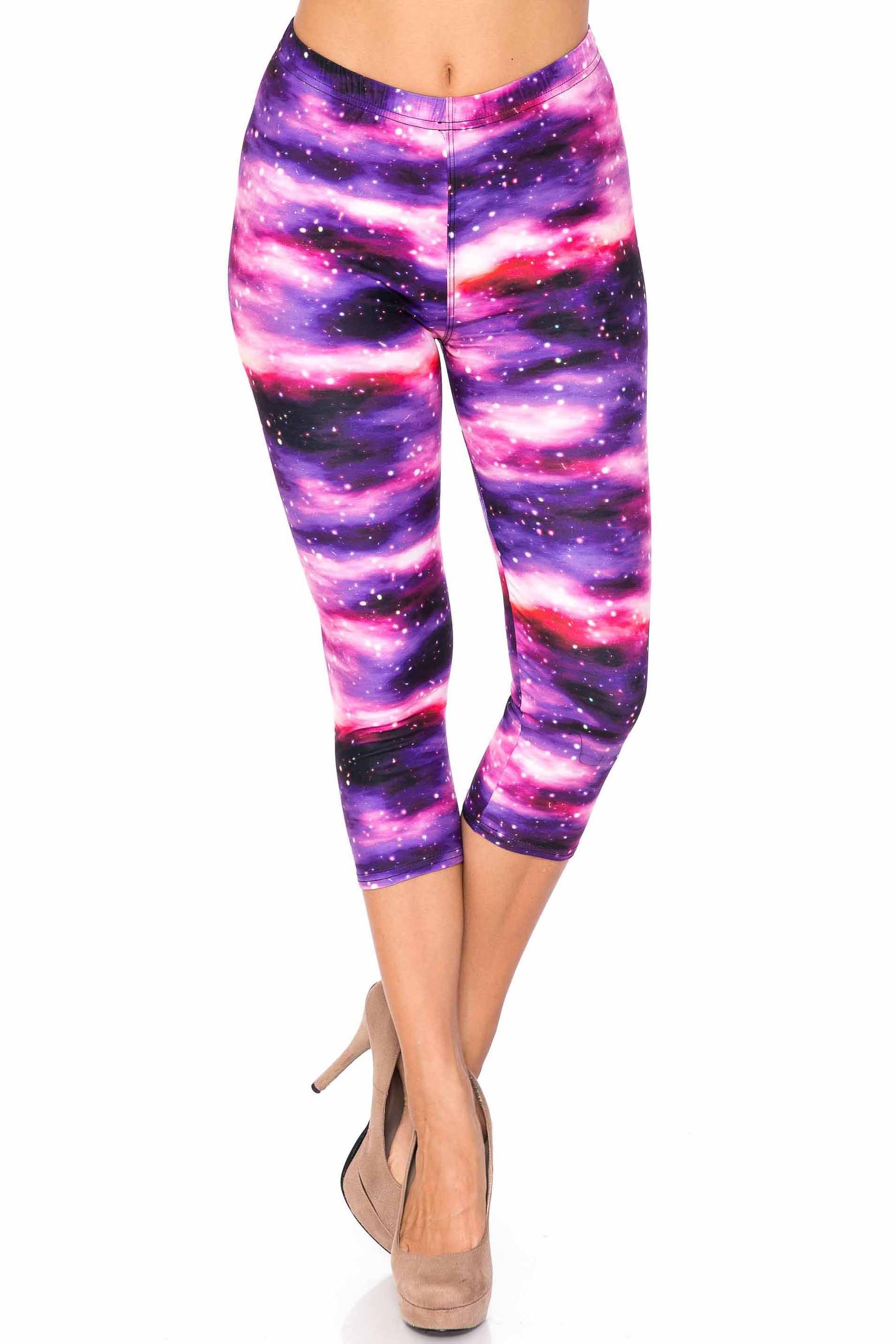 Creamy Soft Purple Mist Capris - USA Fashion™
