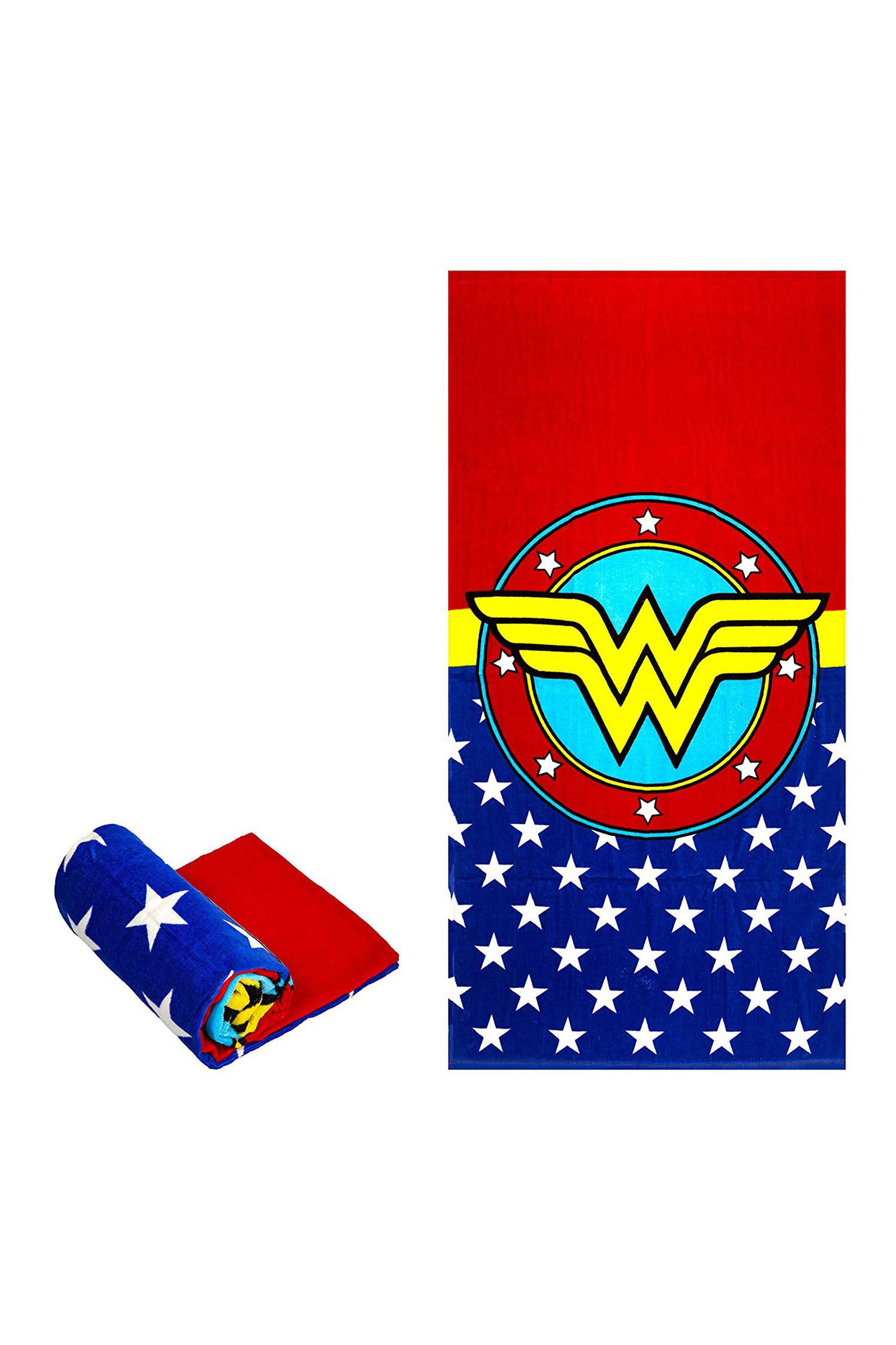 Wonder Woman Logo Oversized Cotton Beach Towel