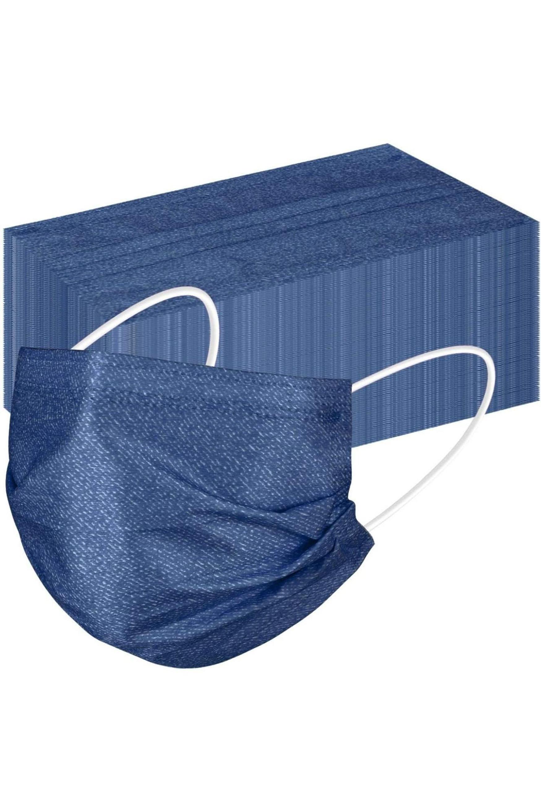 Blue Denim Disposable Surgical Face Mask - 50 Pack